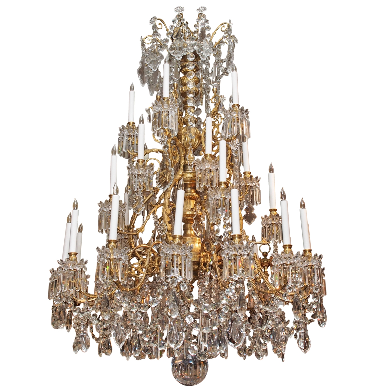 Magnificent Antique French Baccarat Crystal Chandelier Circa 1850 With Vintage Chandelier (Image 7 of 15)