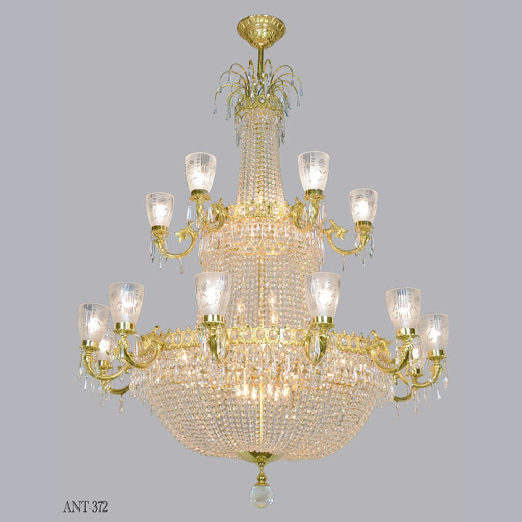 Magnificent Large Vintage Ballroom Crystal Chandelier Ant 372 With Ballroom Chandeliers (Image 12 of 15)