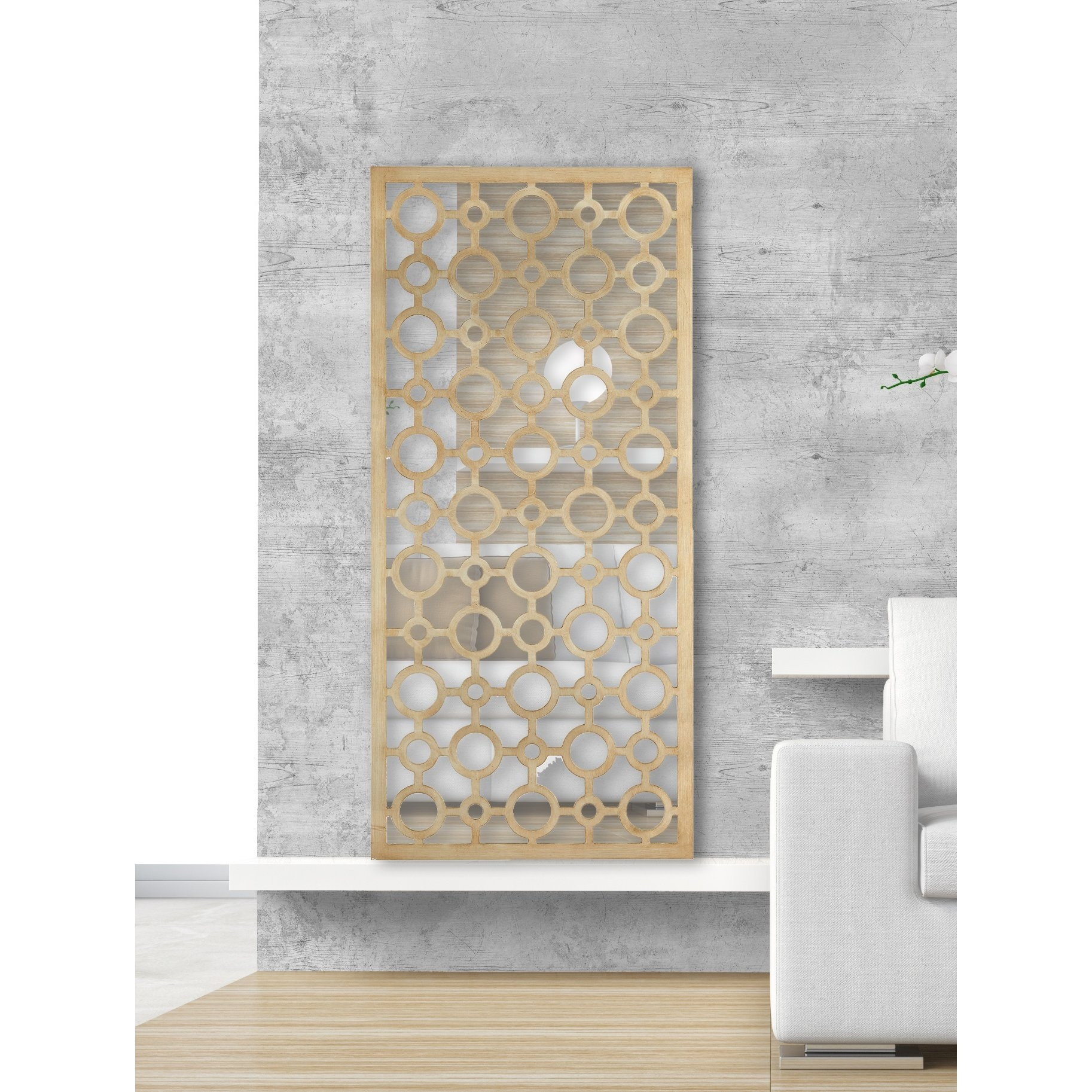 Majestic Mirror Funky Circles Rectangular Framed Wall Mirror Wayfair Regarding Funky Wall Mirror (Image 11 of 15)