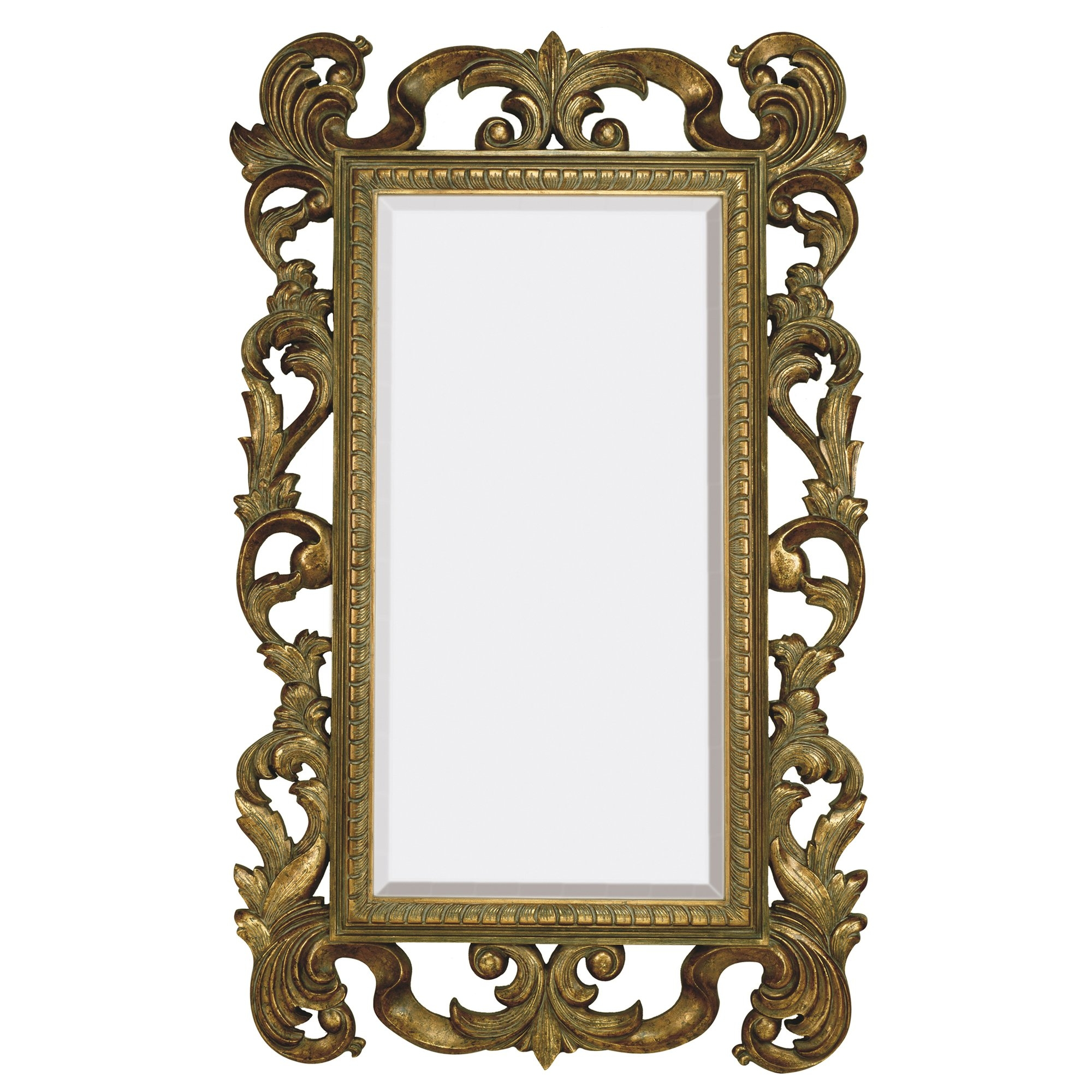 Majestic Mirror Large Rectangular Traditional Antique Bronze Intended For Large Bronze Mirror (View 3 of 15)
