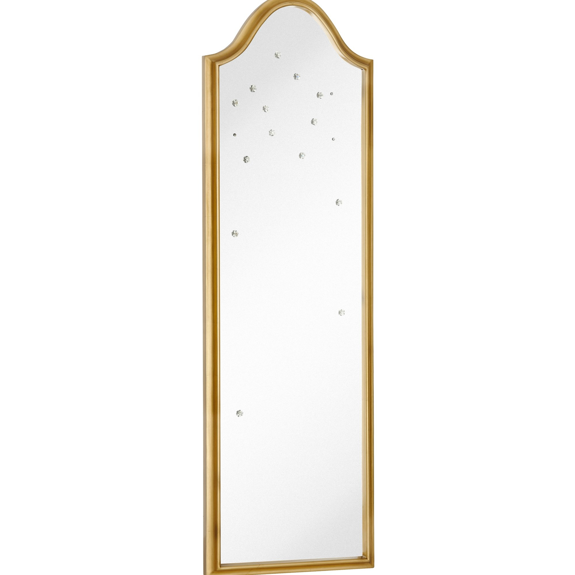 Majestic Mirror Tall Narrow Mirror With Gold Leaf Frame And Pertaining To Tall Narrow Mirror (Image 5 of 15)
