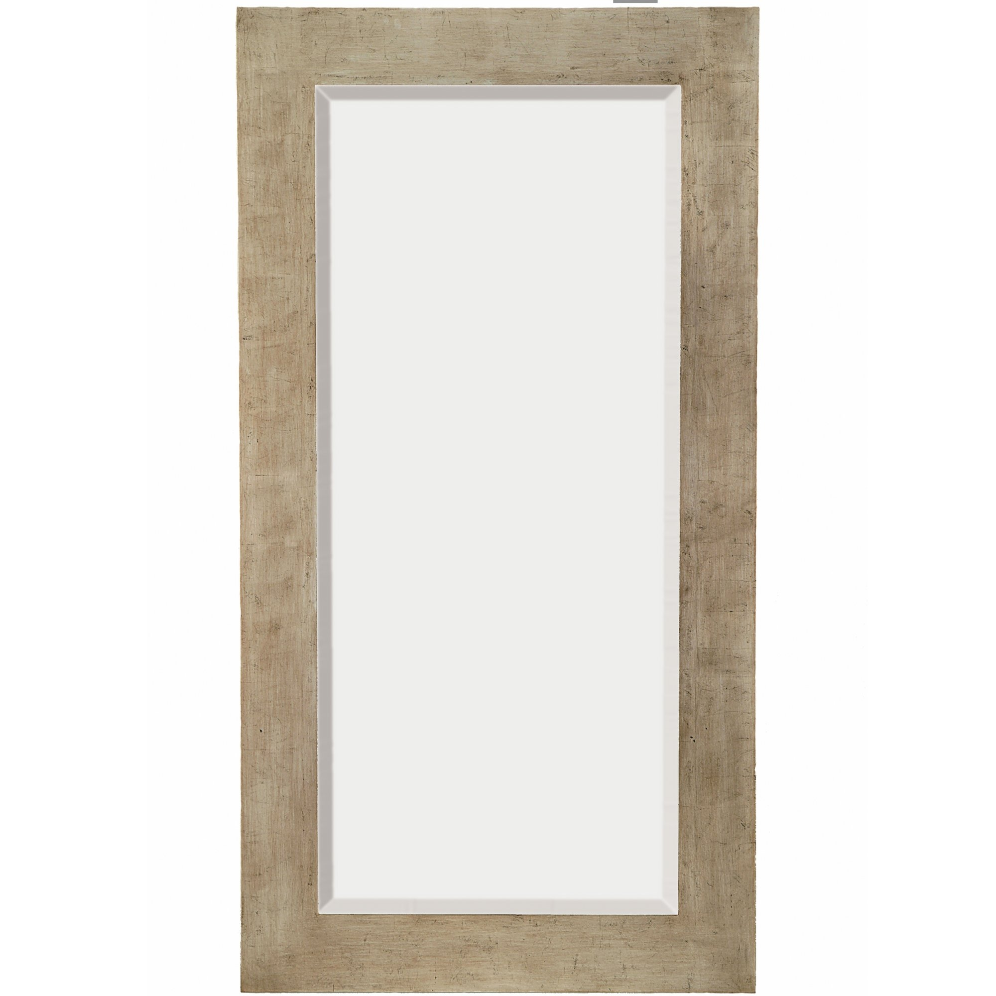 Majestic Mirror Tall Rectangular Silver Sleek Beveled Glass Framed For Tall Silver Mirror (Image 9 of 15)