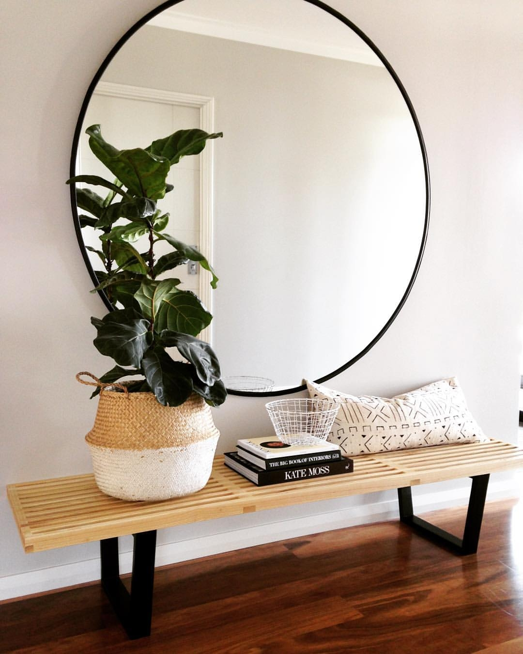 Making A Grand Entrance Interior Pinterest Black Bench With Large Hallway Mirror (Image 13 of 15)