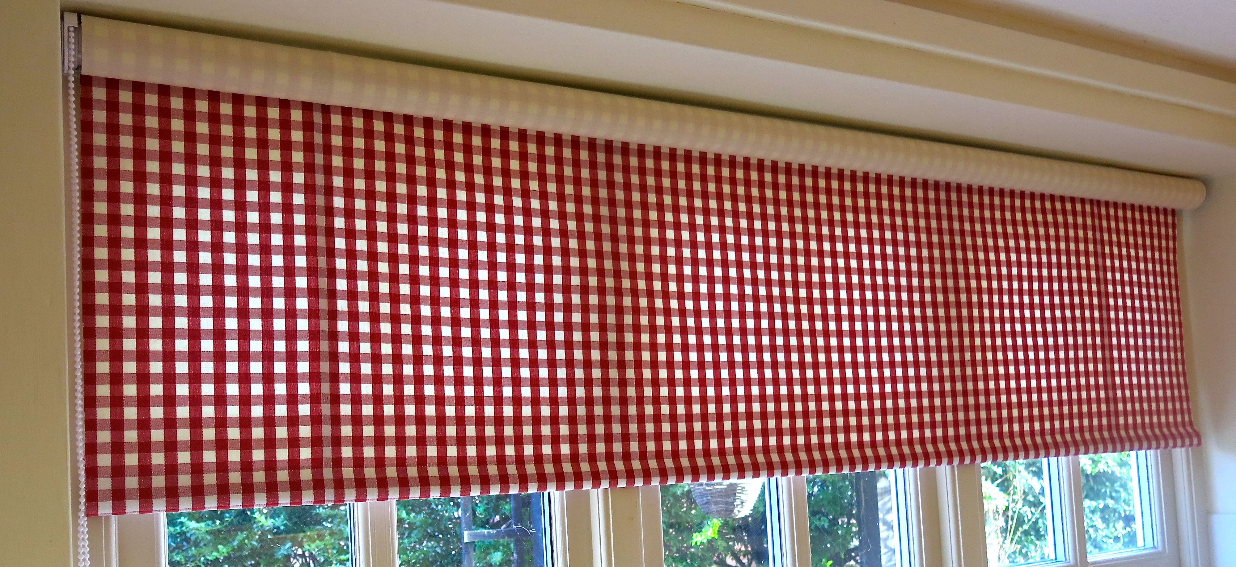 Delightful Curtain Red Roman Blinds Kitchen 6 Of 15 Photos