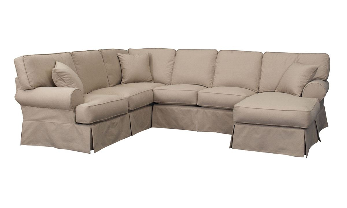 Malibu Luxury Linen Sectional Sofa With Chaise The Dump Throughout Down Filled Sectional Sofas (Image 9 of 15)