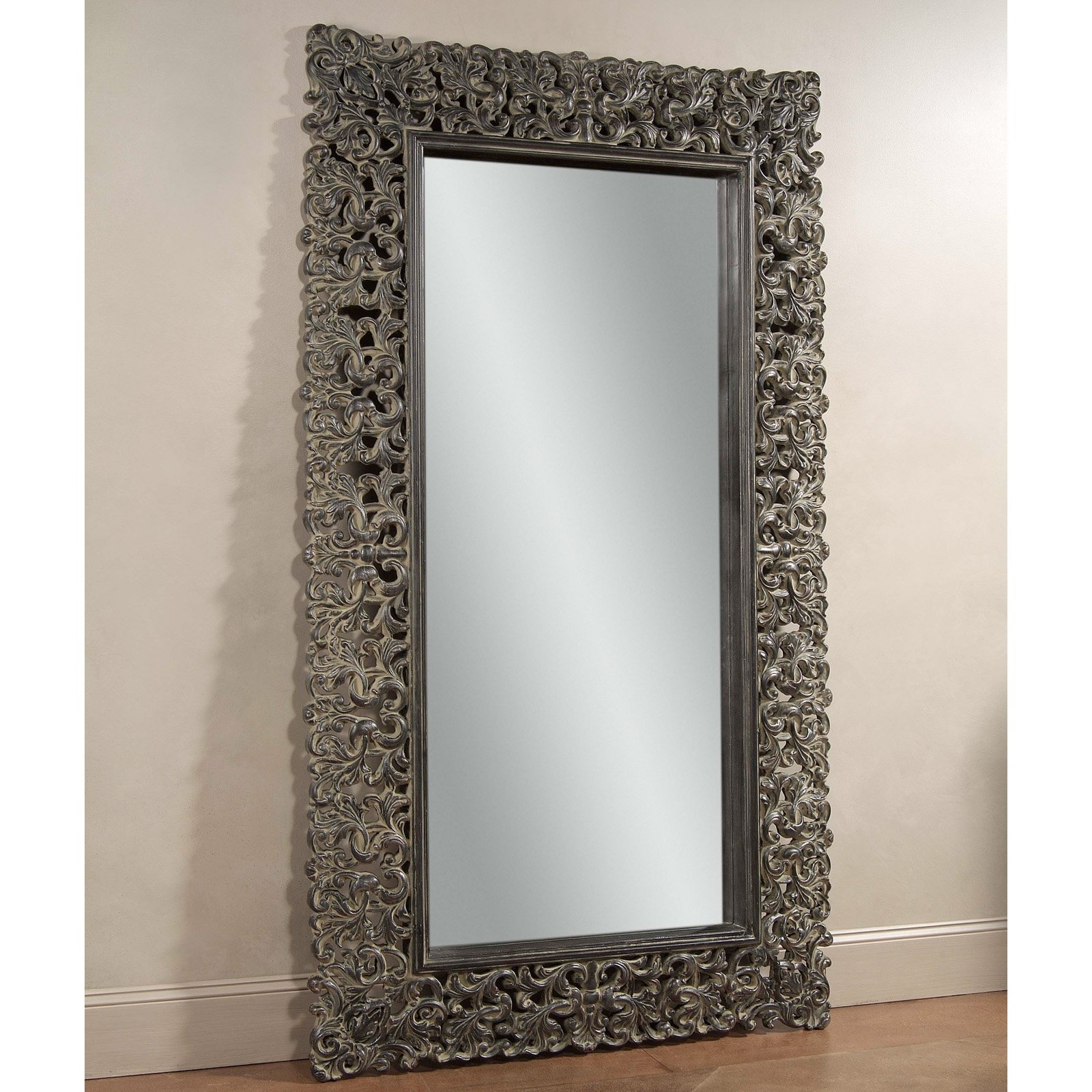 Maltese Leaner Mirror 48w X 87h In Item Hn Bam252 From High Within Ornate Leaner Mirror (Image 7 of 15)
