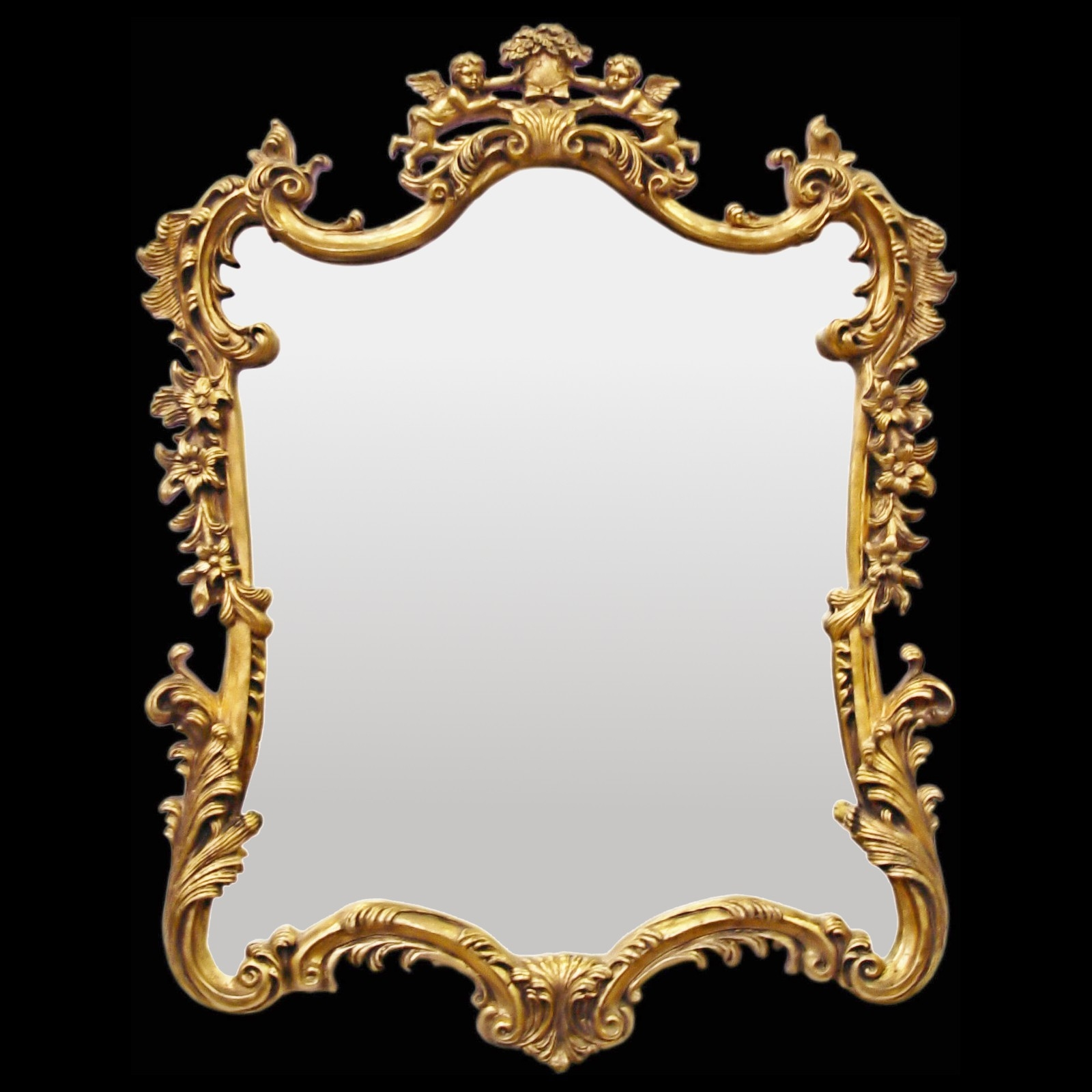 Manificent Design Baroque Wall Mirror Fancy White Baroque 7 Mirror With Regard To White Baroque Wall Mirror (Image 9 of 15)