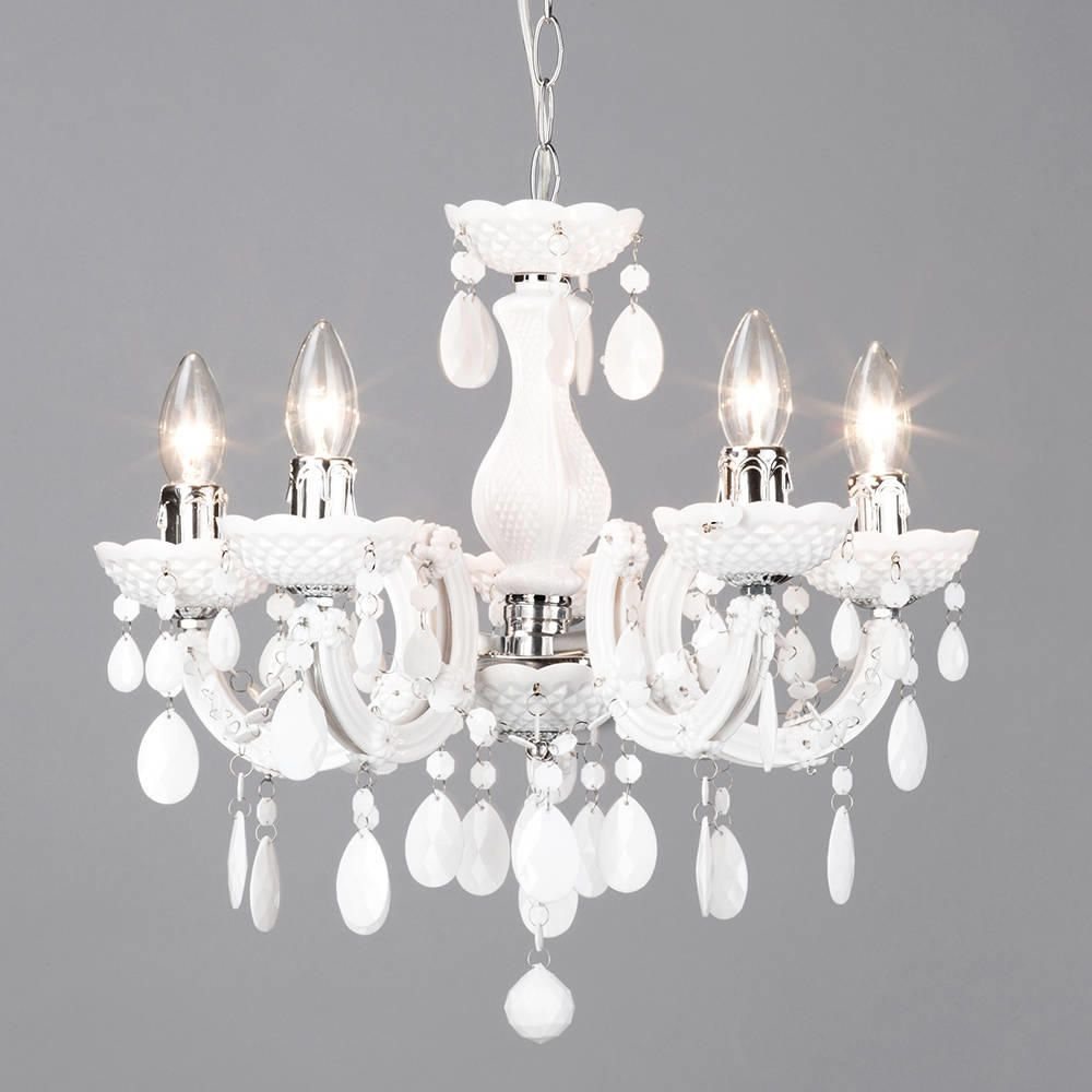 Marie Therese 5 Light Dual Mount Chandelier White From Litecraft With Regard To White Chandelier (Image 10 of 15)