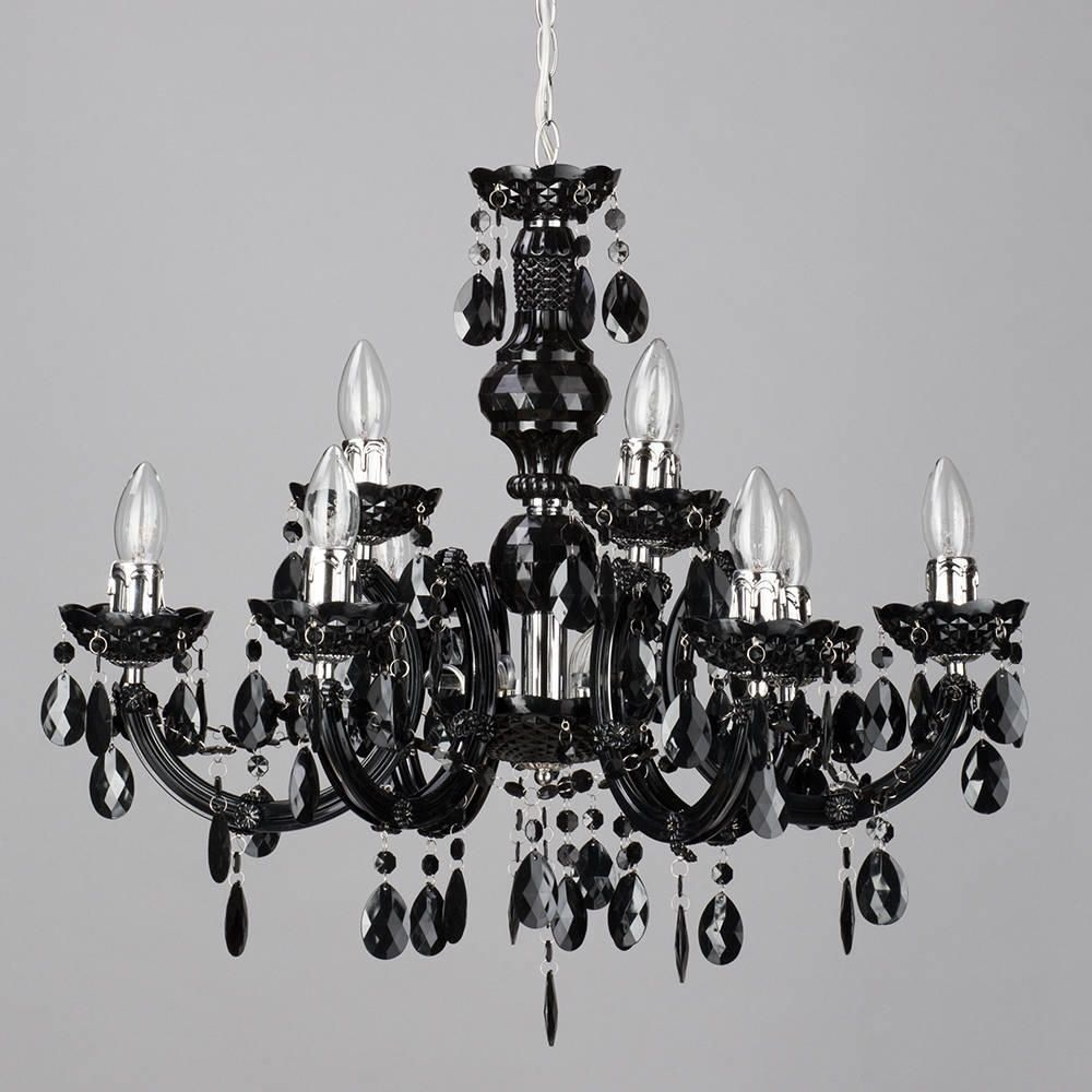 Marie Therese 9 Light Dual Mount Chandelier Black From Litecraft Pertaining To Black Gothic Chandelier (Image 12 of 15)