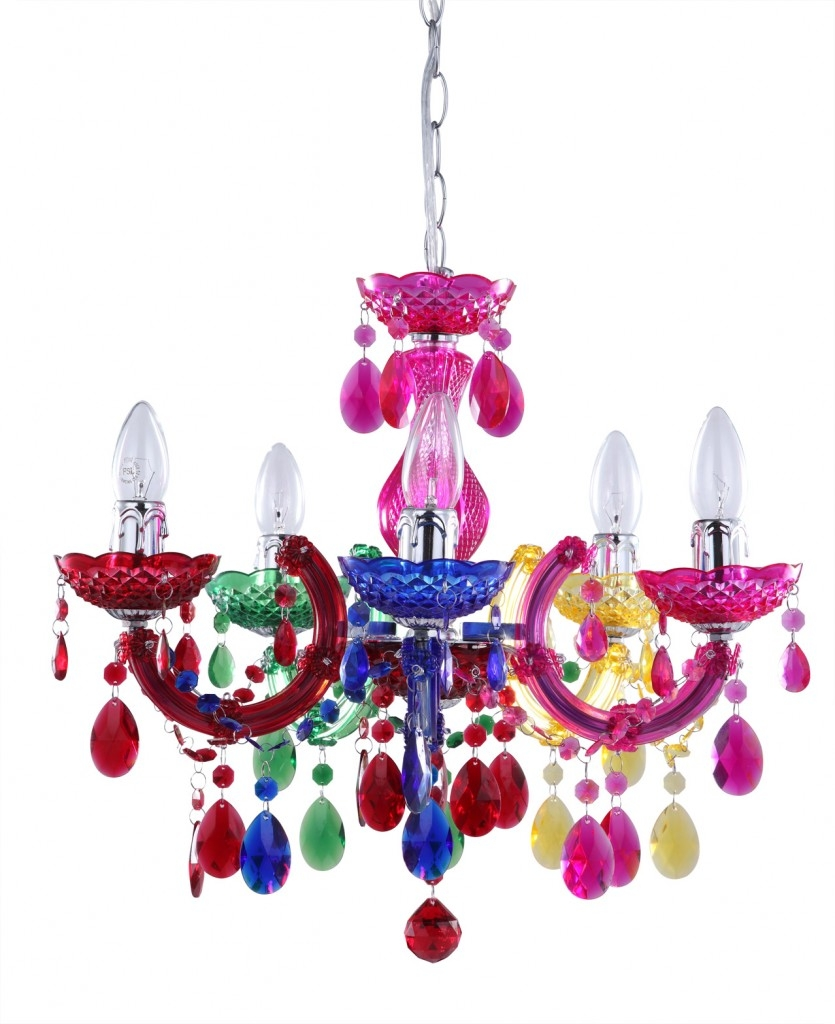 Featured Image of Coloured Chandeliers