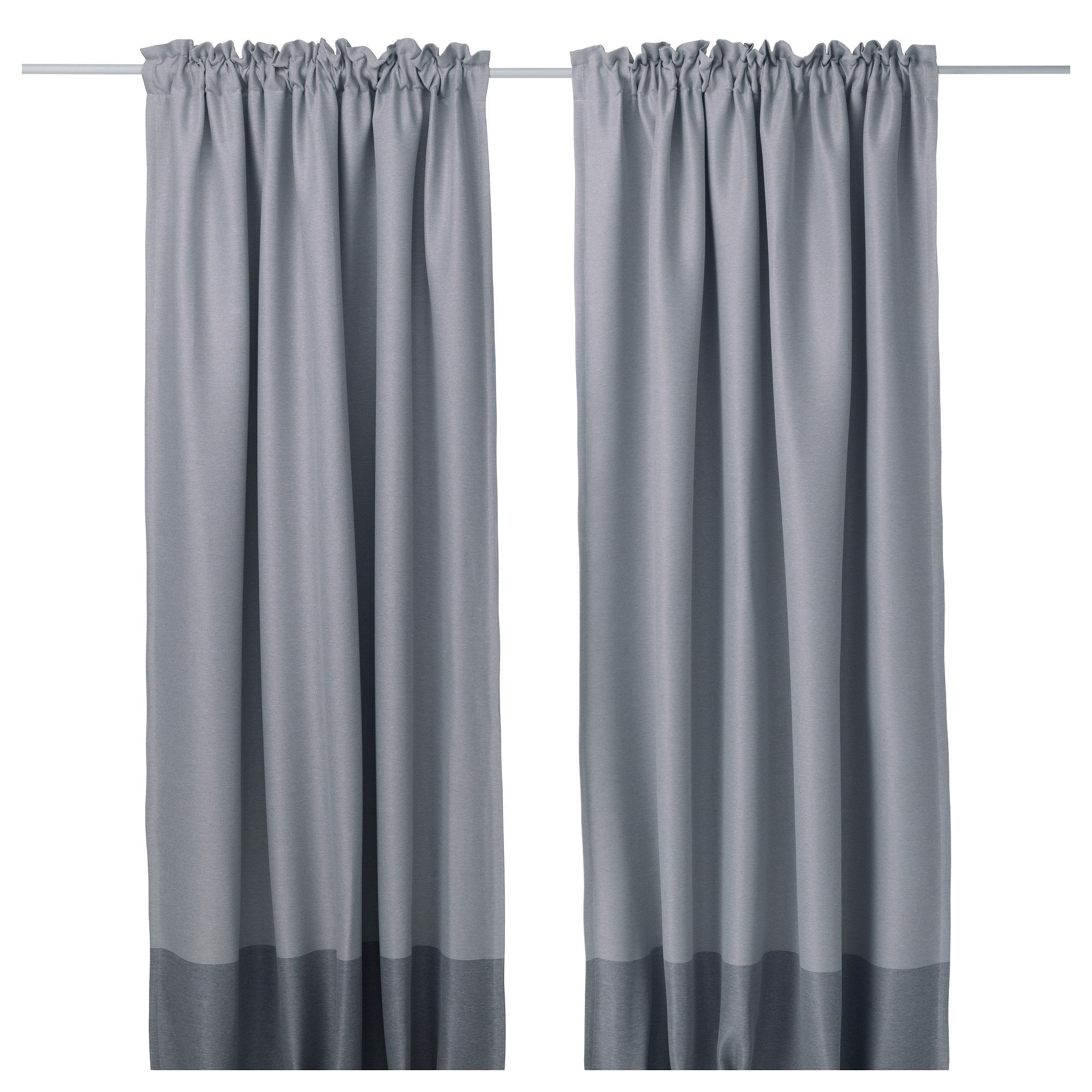 Marjun Blackout Curtains 1 Pair Ikea Within Thick Grey Curtains (Image 11 of 15)