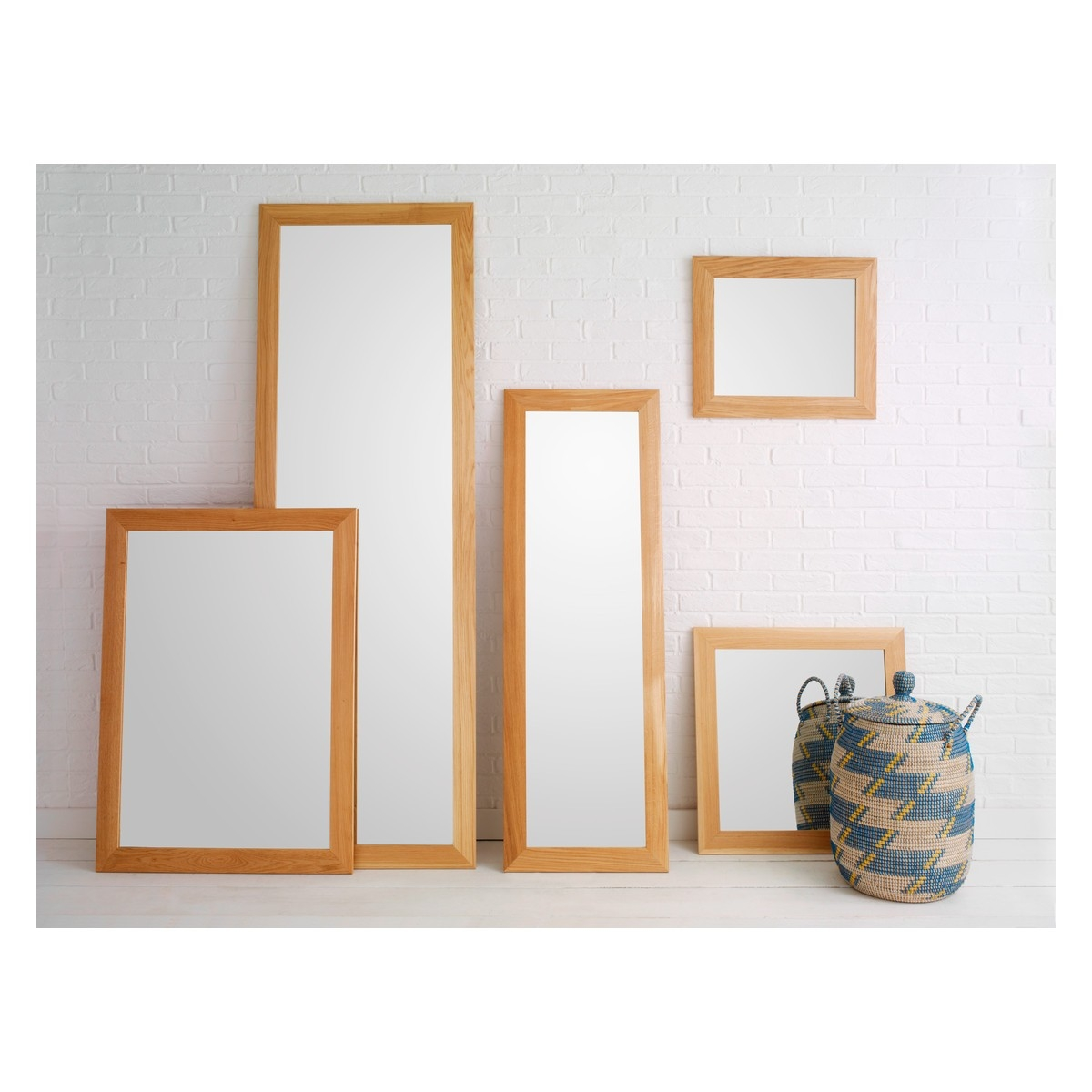 Marlo 40 X 140cm Full Length Oak Wall Mirror Buy Now At Habitat Uk In Oak Mirrors (Image 6 of 15)