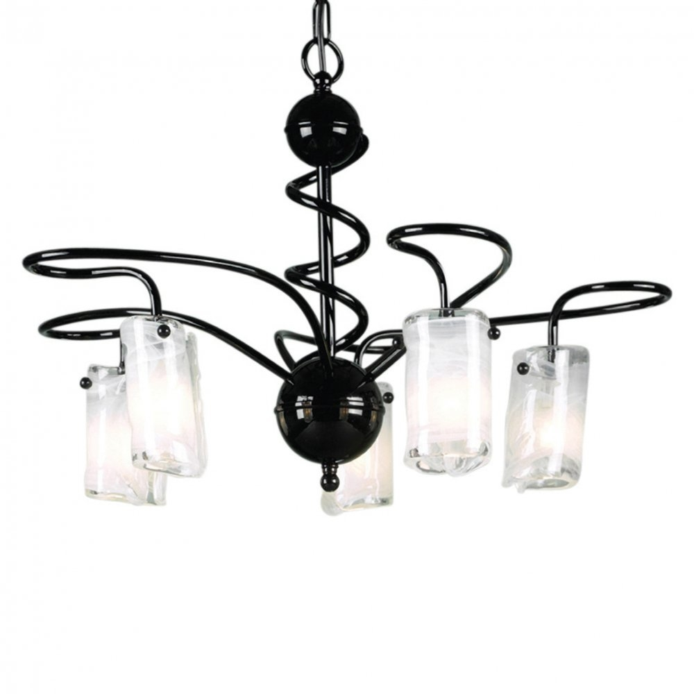 Marvellous Black Modern Chandelier Mid Century Modern Chandelier White Background Four Light Hinging Handelier Black Pertaining To Contemporary Black Chandelier (Image 12 of 15)