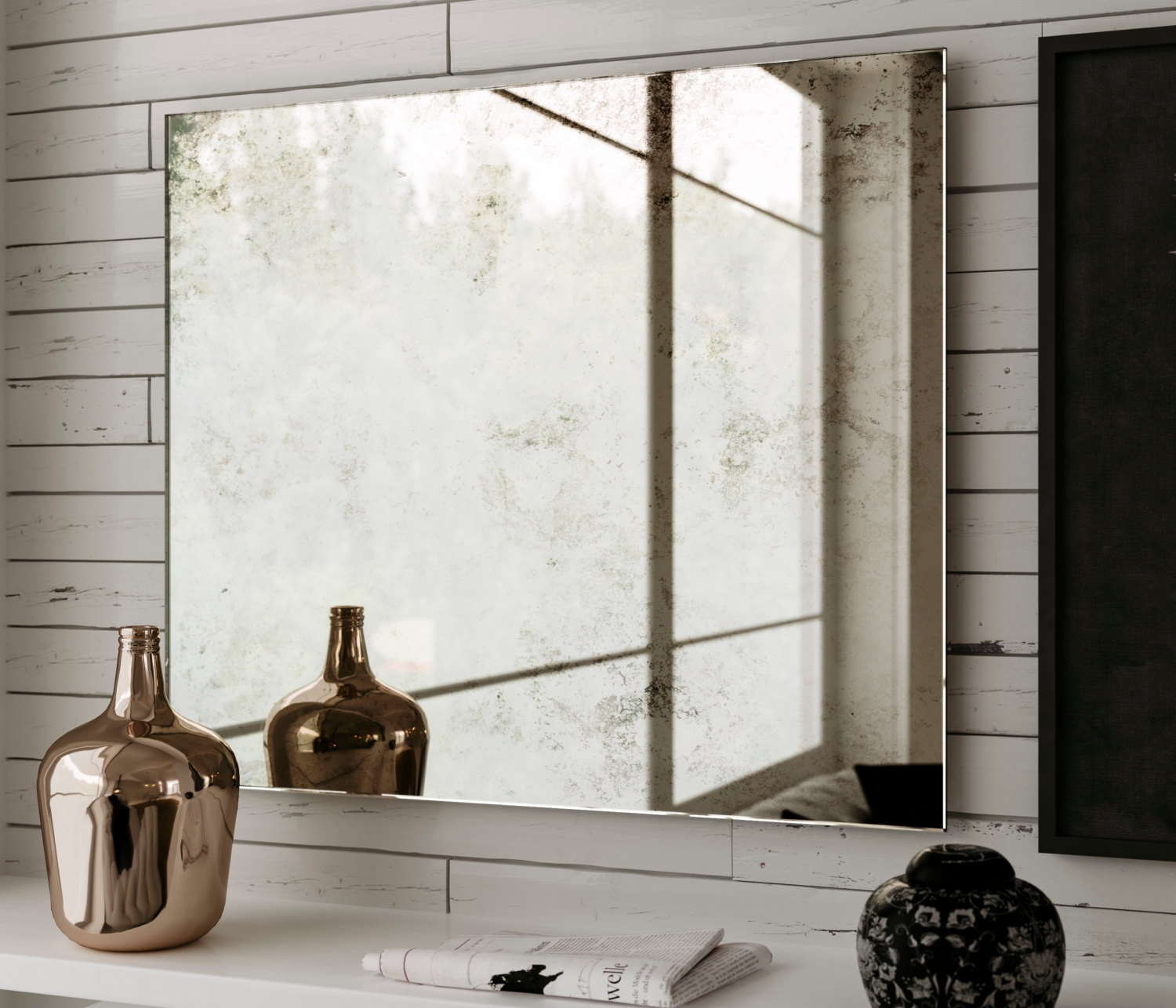 Marvelous Ideas Large Frameless Wall Mirrors Shining Modern Silver Regarding Frameless Large Mirrors (Image 10 of 15)