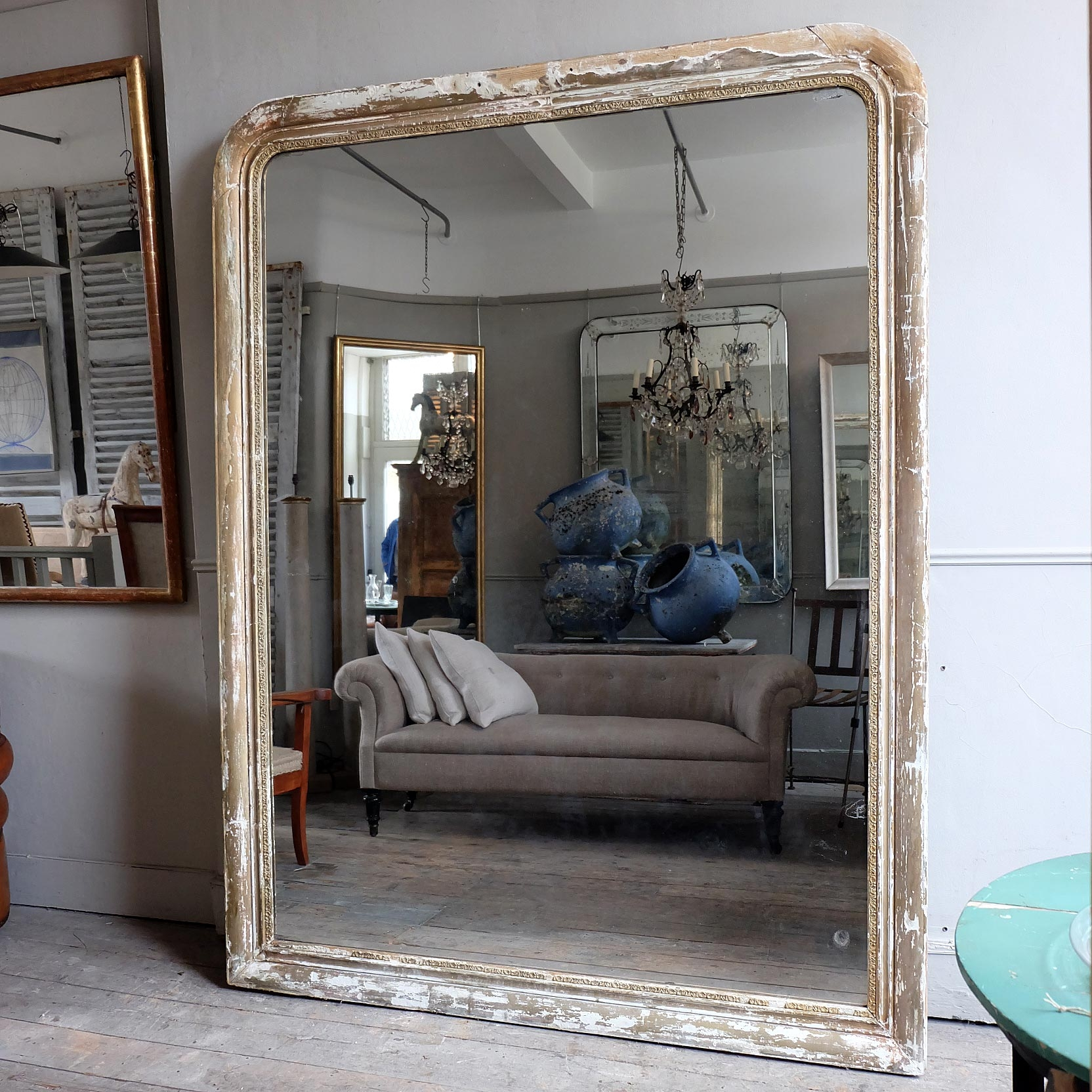Massive Antique Mirror Puckhaber Decorative Antiques In Huge Antique Mirror (Image 14 of 15)