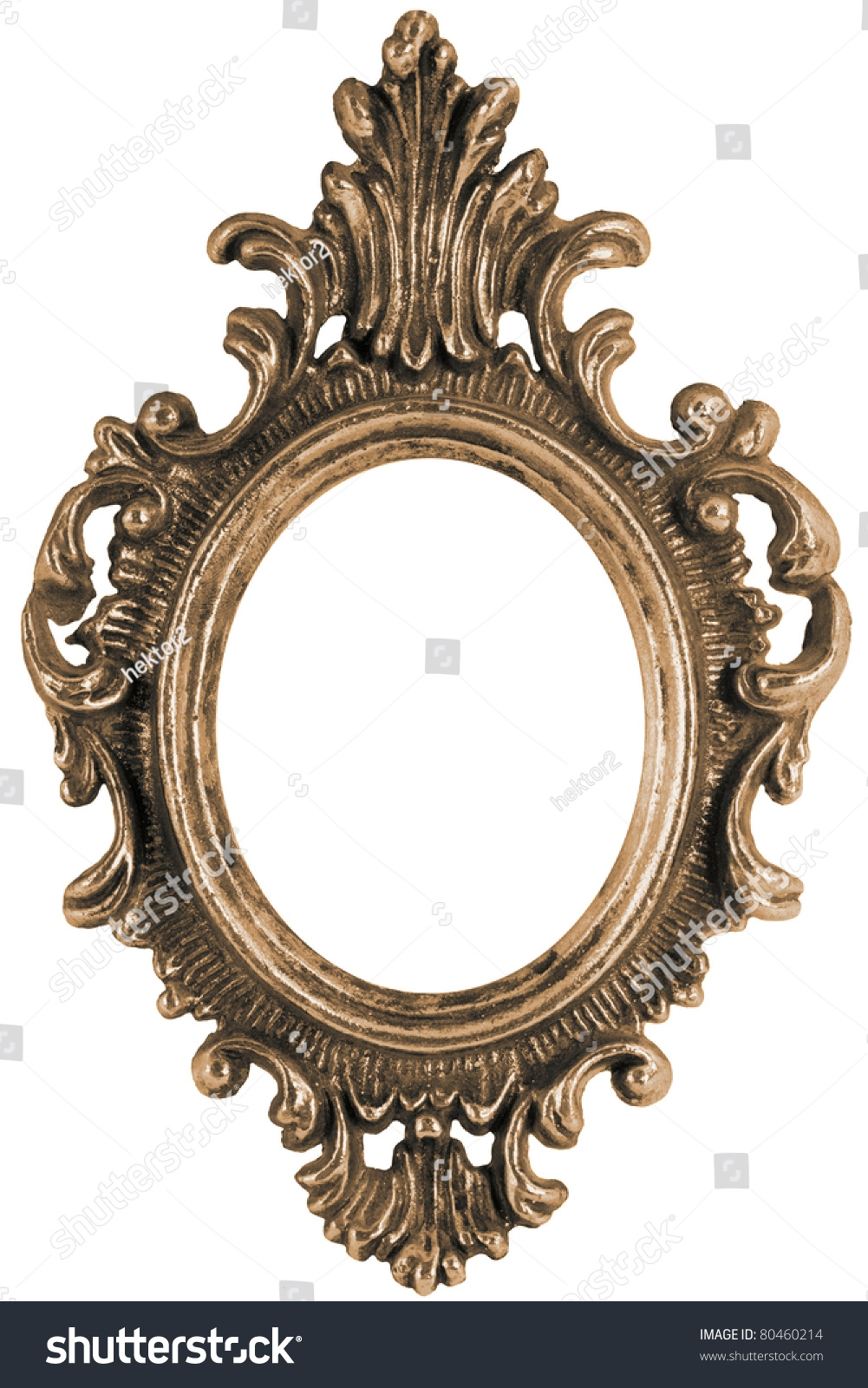 Massive Old Stylistic Mirror Frame Stock Photo 80460214 Shutterstock Pertaining To Old Style Mirror (Image 9 of 15)
