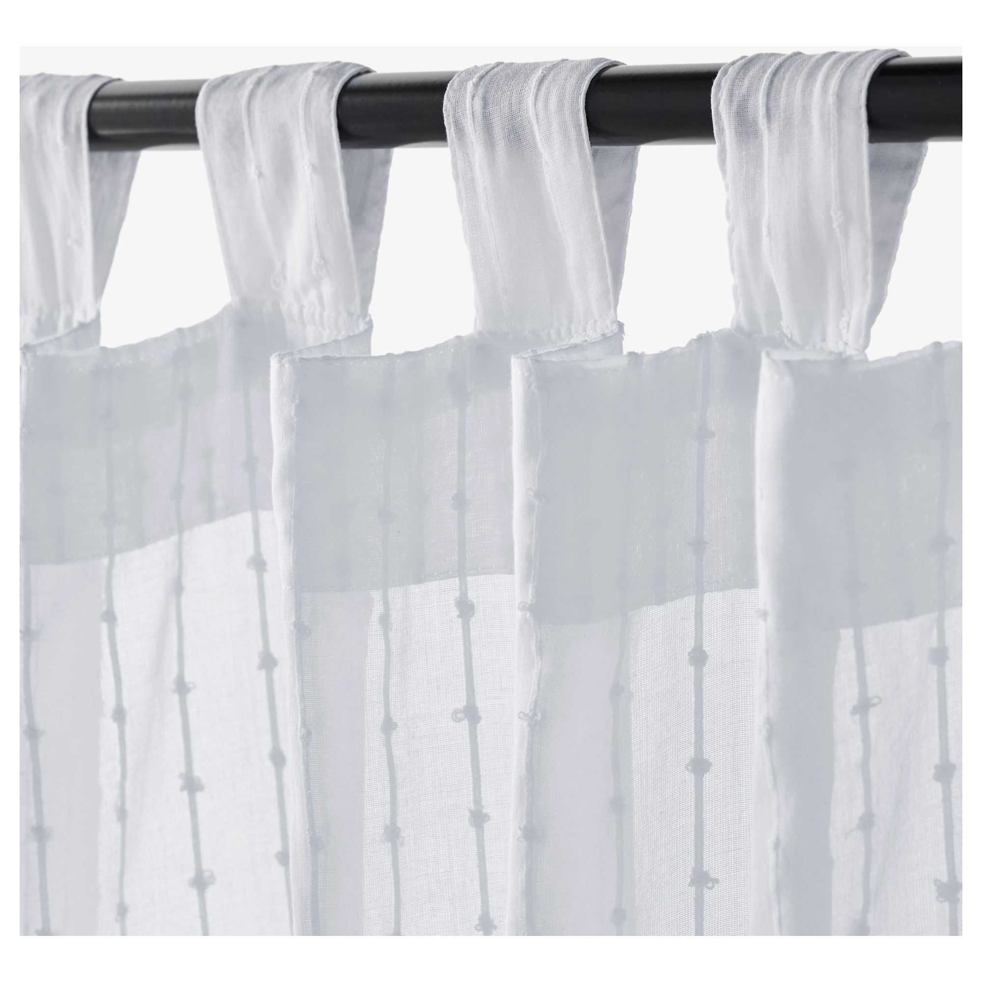 Matilda Sheer Curtains 1 Pair White 140×250 Cm Ikea Intended For White Sheer Cotton Curtains (Image 8 of 15)