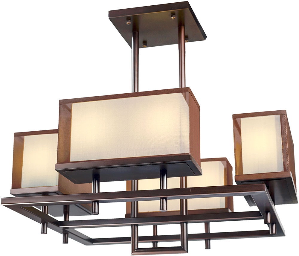 Maxim 43446csoi Hennesy Modern Oil Rubbed Bronze Led 42 In Bronze Modern Chandelier (Image 9 of 15)