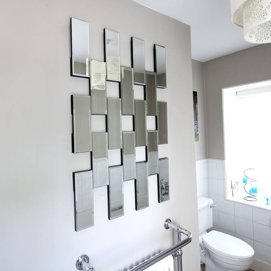 Maze Tile Mirror Decorative Mirrors Glass Tiles And Bathroom Within Decorativemirrors (Image 13 of 15)