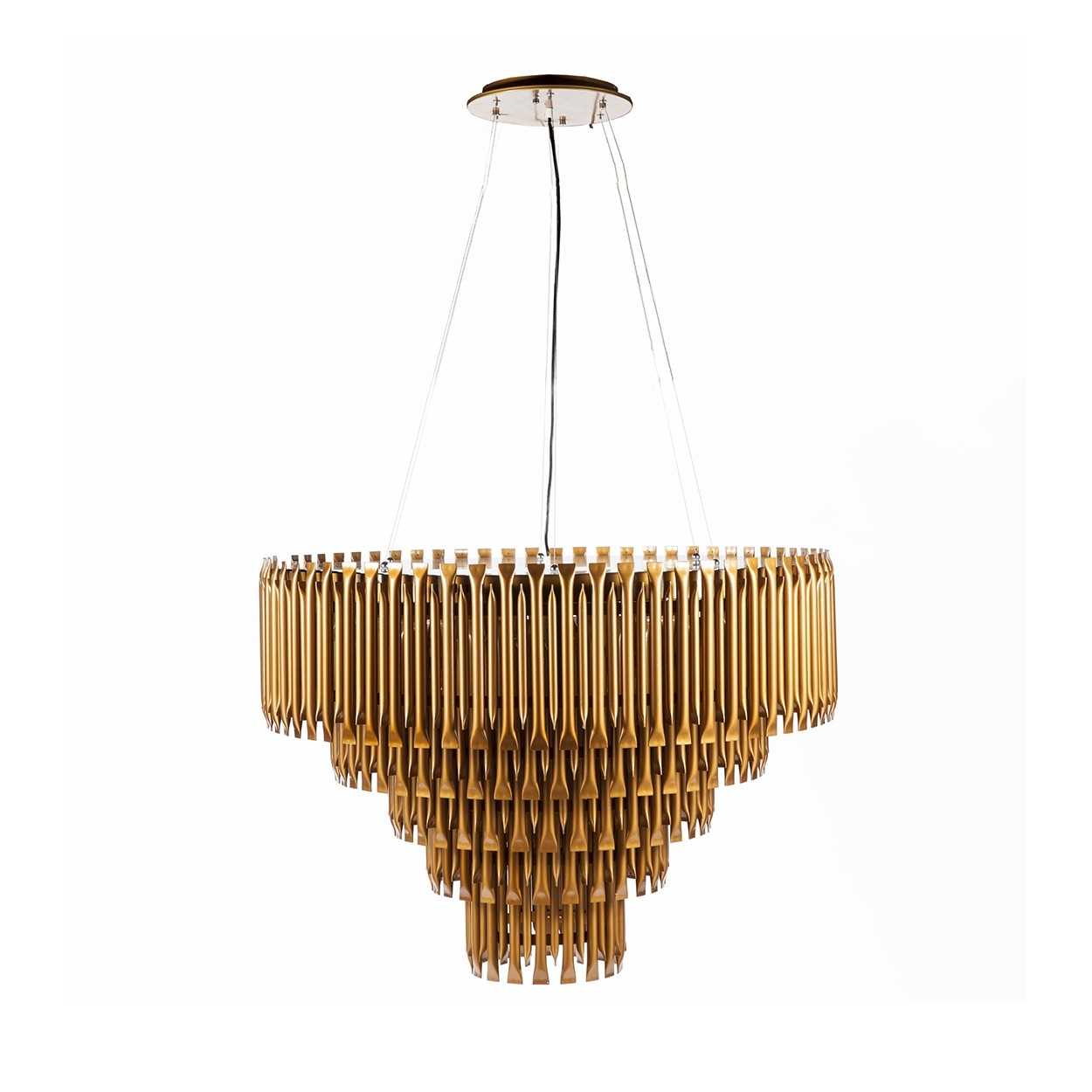 Mcgrath Mid Century Modern Led Chandelier Modernist Lighting Within Gold Modern Chandelier (Image 8 of 15)