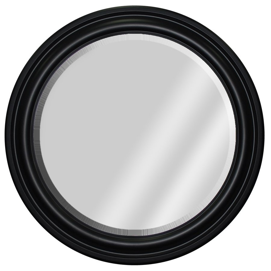 Mcs Industries 33 In Black Round Framed Mirror Canada Lowes And With Black Circle Mirrors (Image 10 of 15)
