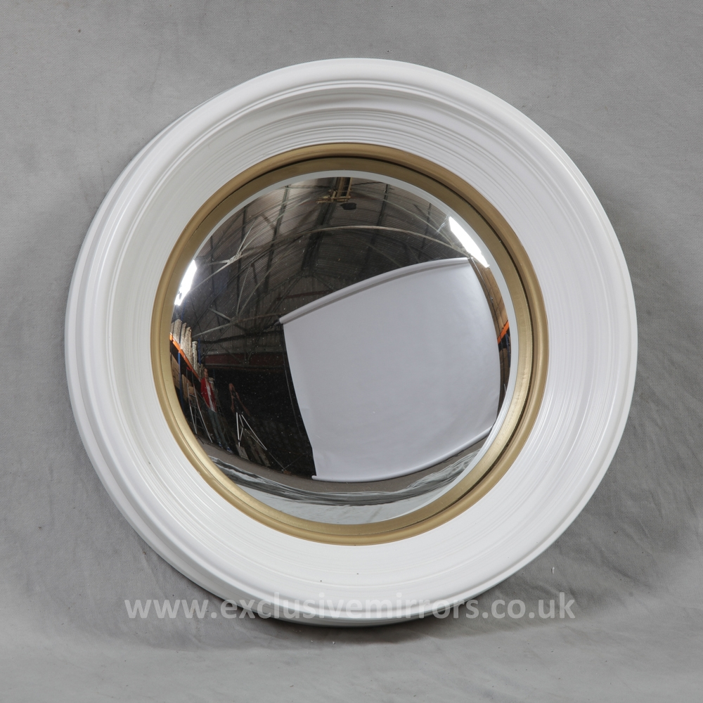 Medium Convex Mirror White Frame Finish Home Decor Pinterest Inside White Convex Mirror (View 2 of 15)