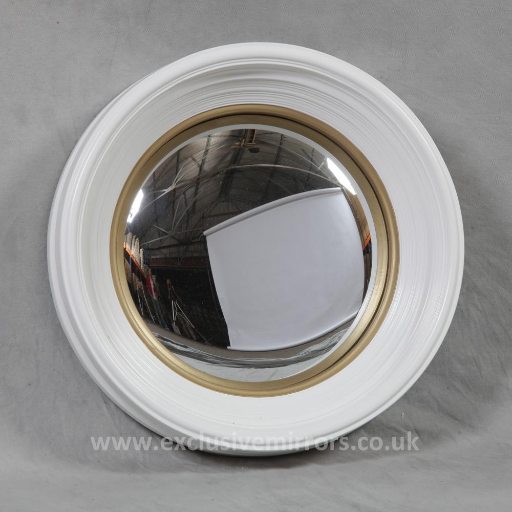 Medium Convex Mirror White Frame Finish Home Decor Pinterest Inside White Convex Mirror (Image 7 of 15)