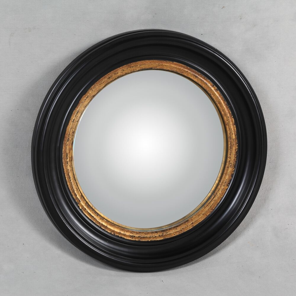 Medium Round Black Convex Mirror 54 X 54 X 4 Cm Exclusive Mirrors Within Black Convex Mirror (Image 5 of 15)