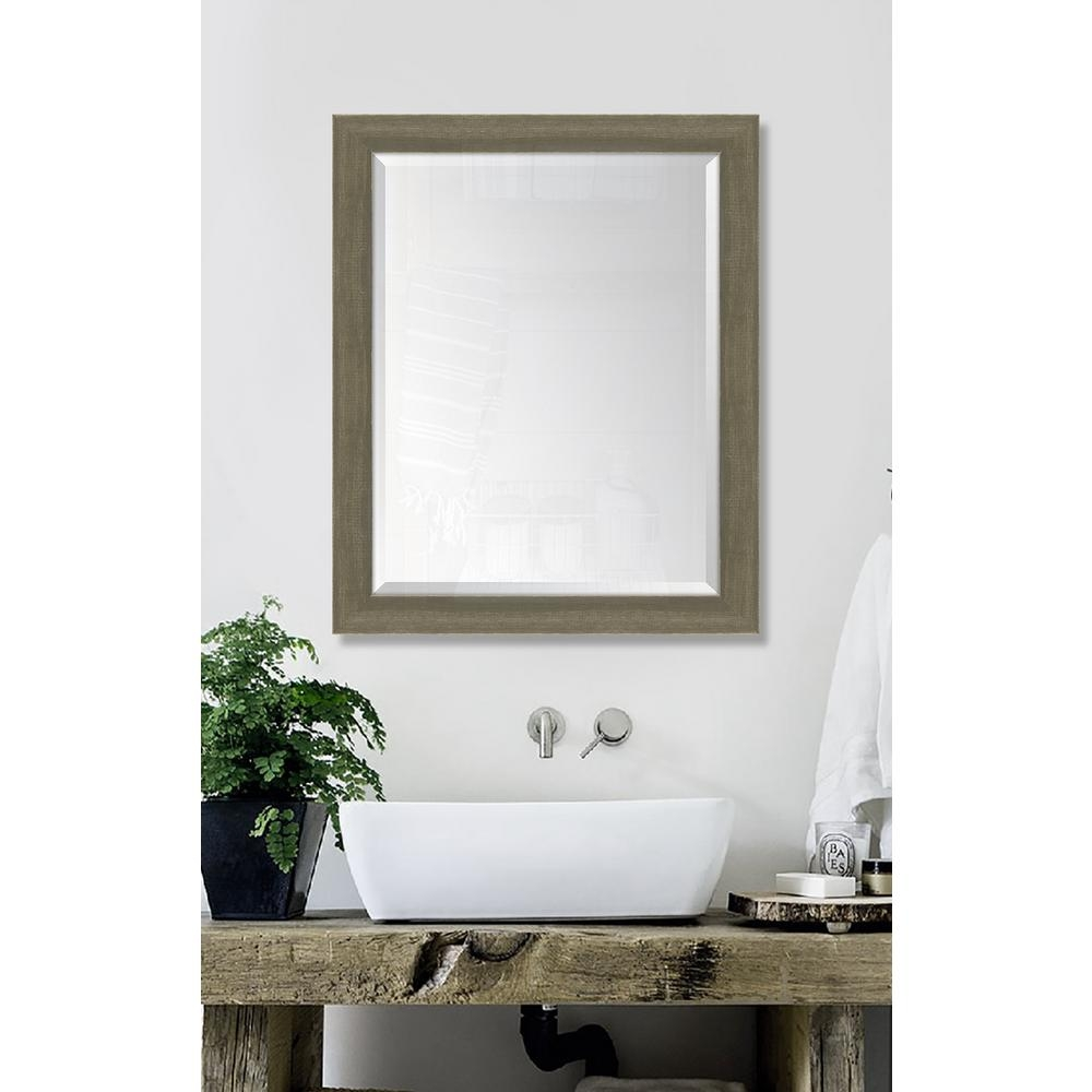 Melissa Van Hise 27 In X 33 In Framed Farmhouse Brown Large Throughout Large Brown Mirror (Image 12 of 15)
