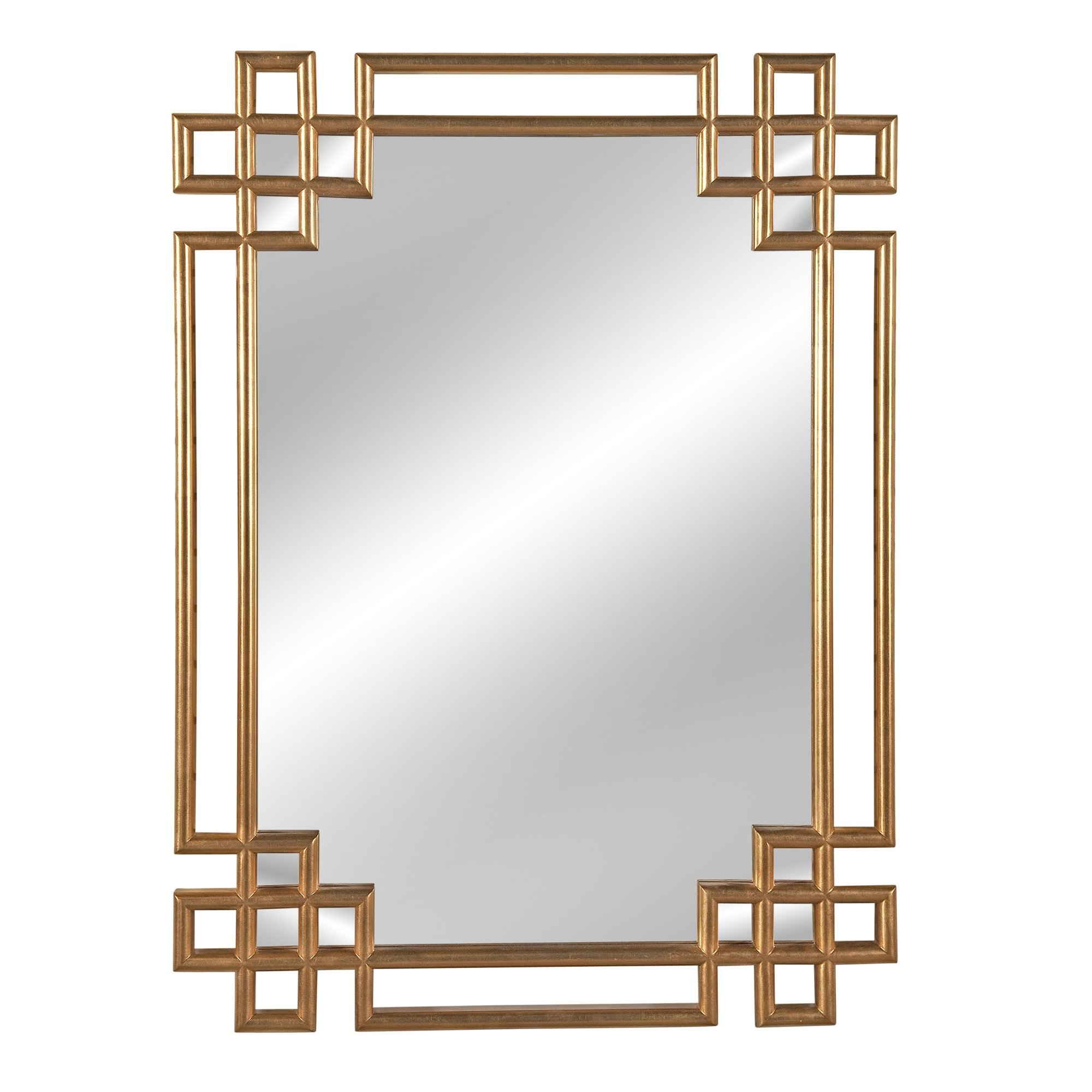 Mercer41 Rectangle Gold Wall Mirror Reviews Wayfair In Gold Table Mirror (Image 8 of 15)