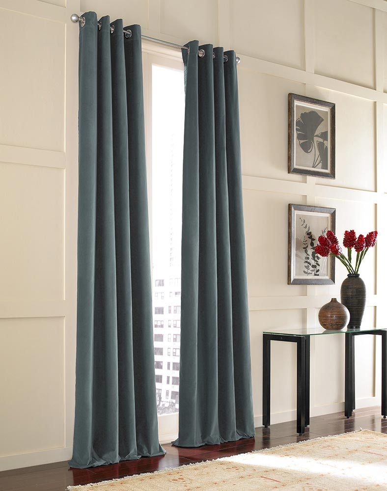 Messina Opulent Velvet Lined Grommet Drape Curtainworks With Velvet Material For Curtains (Image 9 of 15)