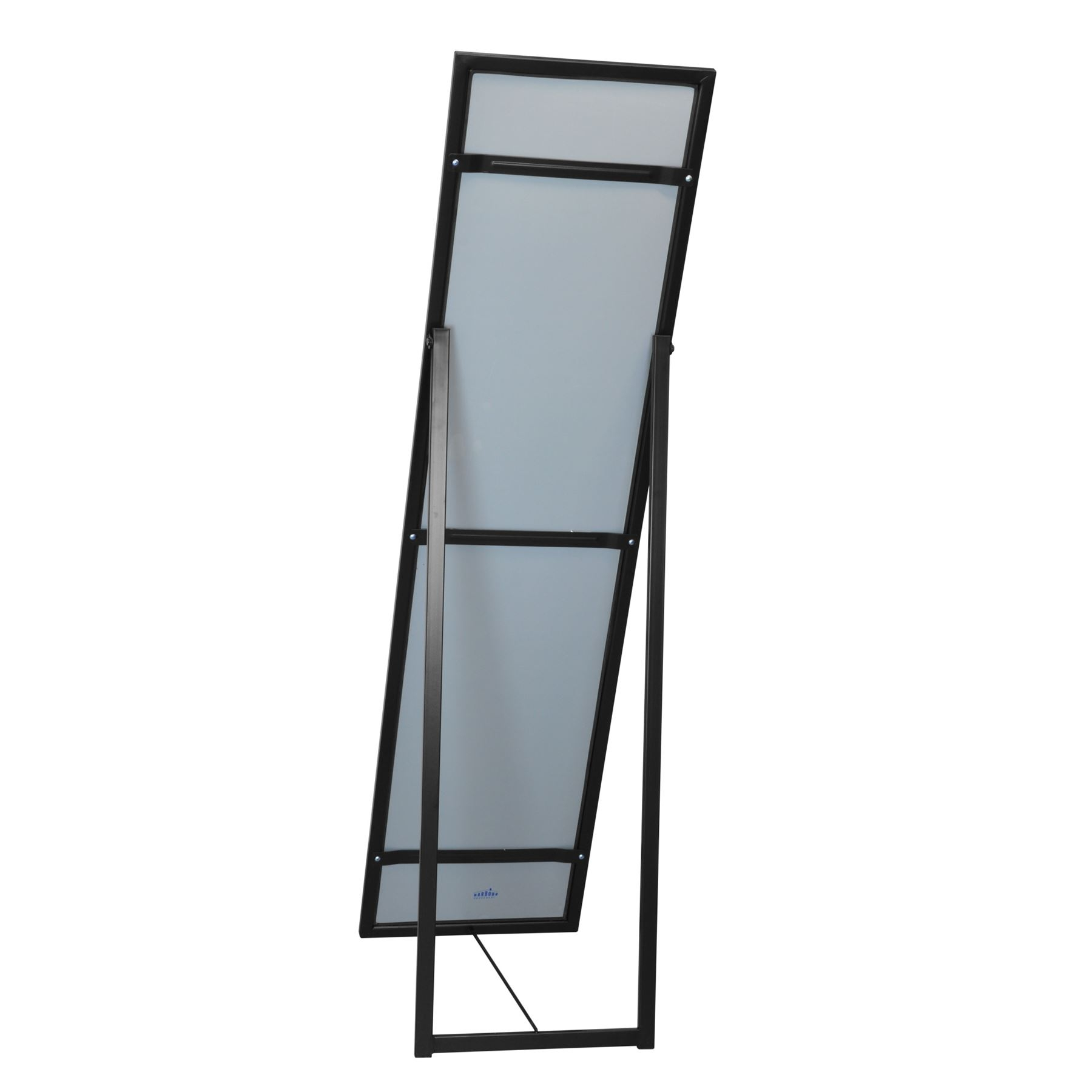 Metal Framed Free Standing Full Length Mirror 1370mm Black Ebay For Free Standing Black Mirror (Image 11 of 15)