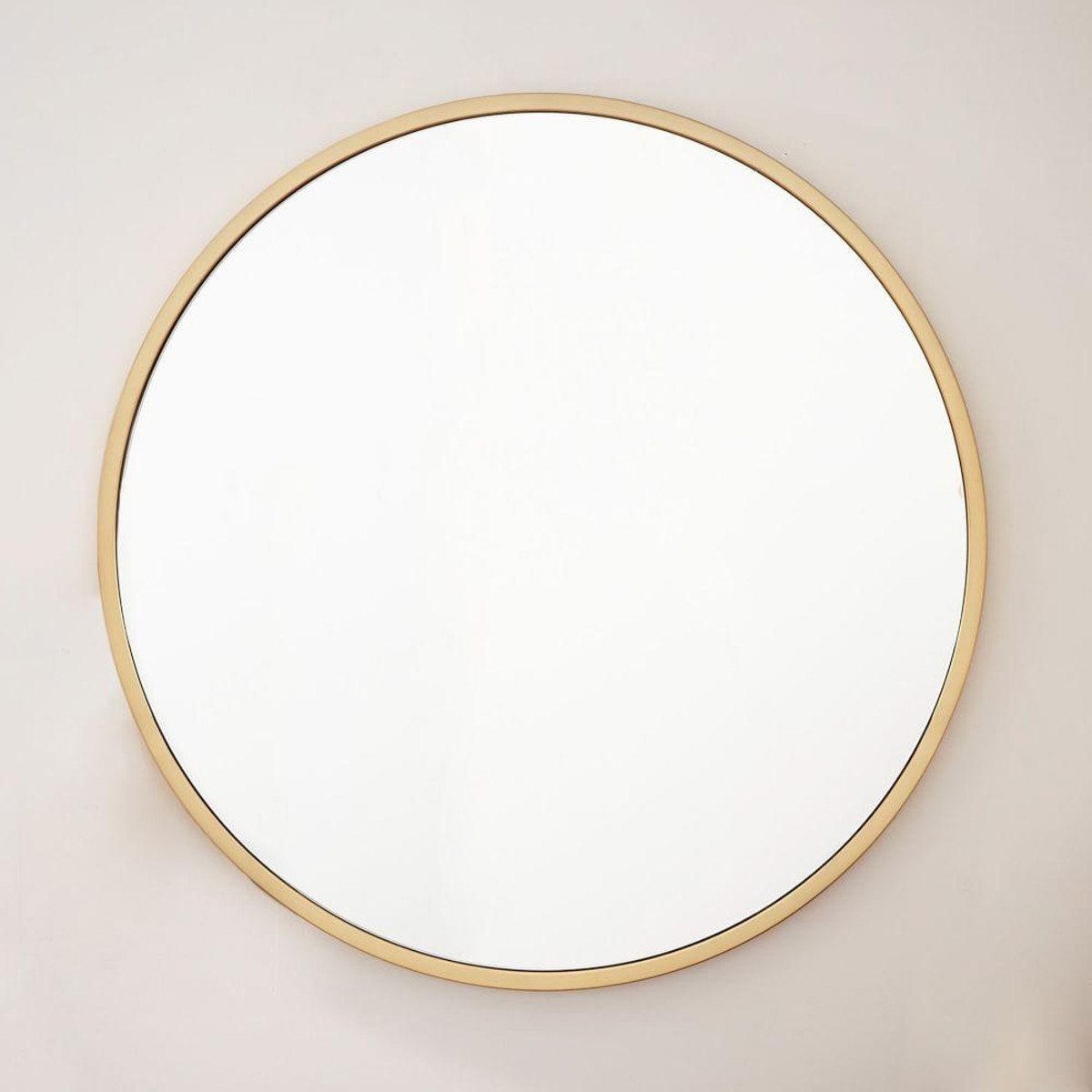 Metal Framed Oversized Round Mirror Antique Brass Bathroom Pertaining To Antique Round Mirrors (View 10 of 15)
