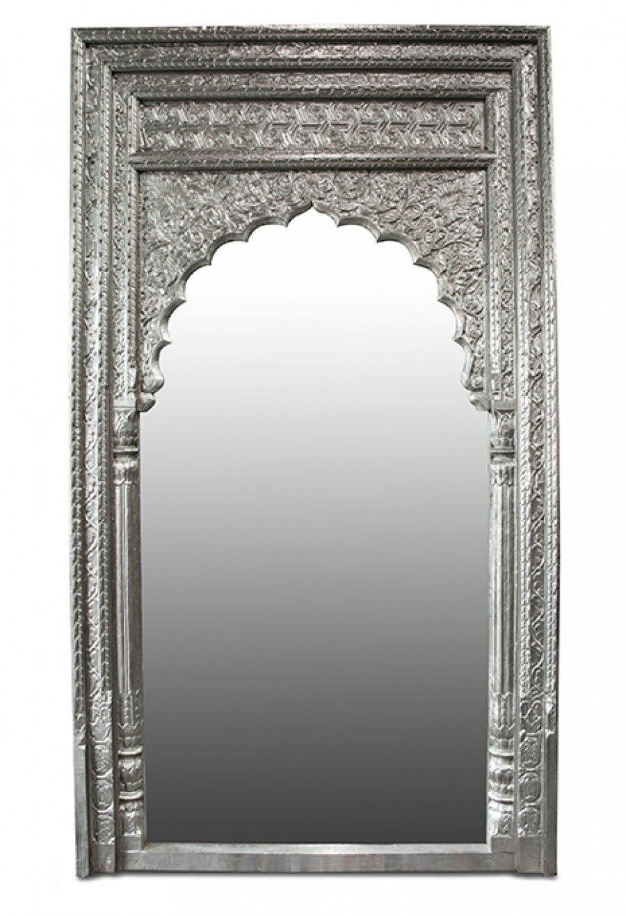 Metal Mirror Throughout White Metal Mirror (Image 7 of 15)
