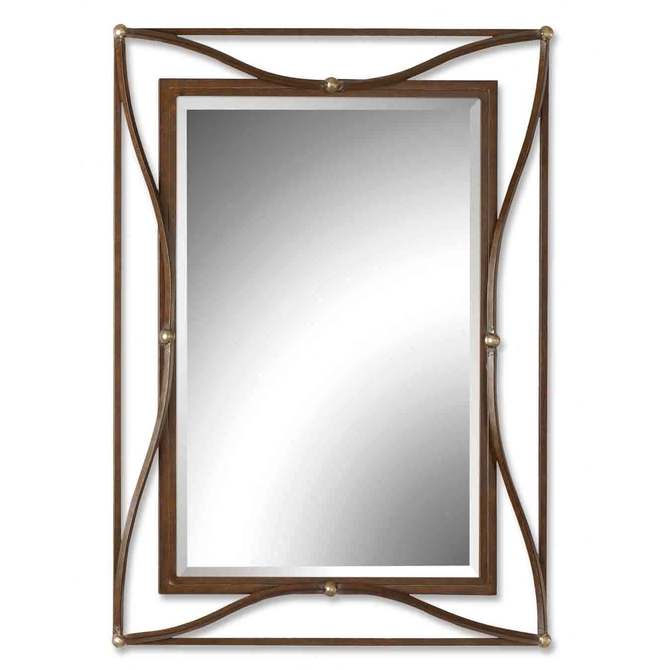 Metal Mirrors Youll Love Wayfair With Large Metal Mirror (Image 12 of 15)