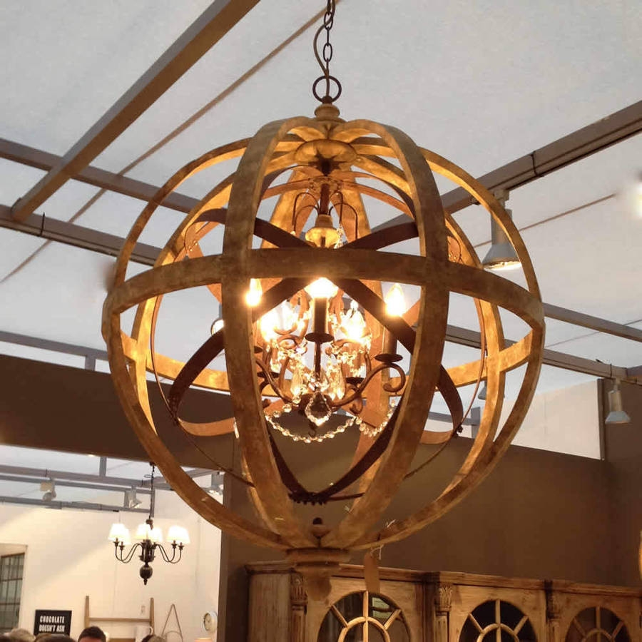 Metal Sphere Chandelier Lightupmyparty Within Metal Sphere Chandelier (Image 11 of 15)