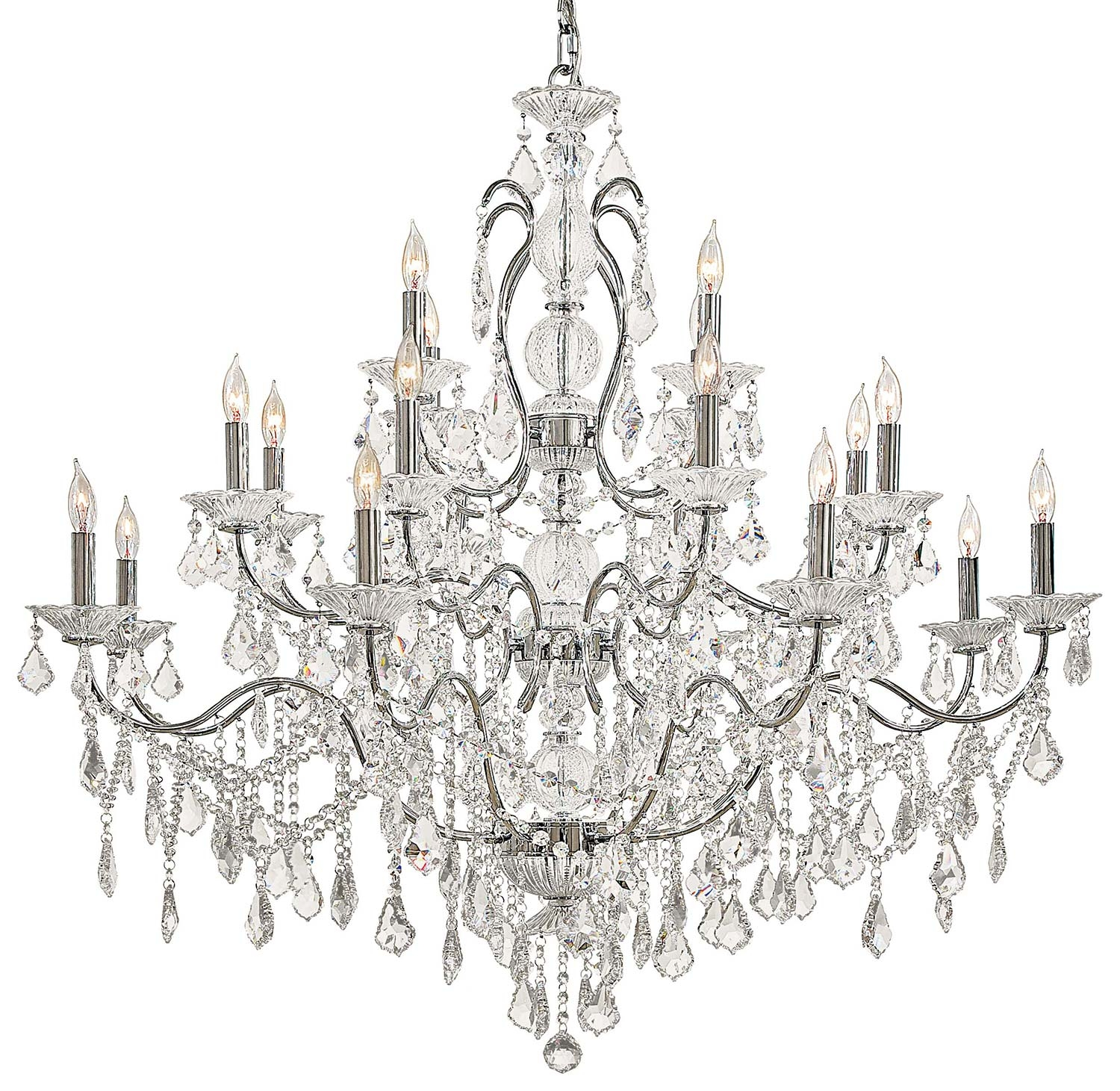 Metropolitan N8009 Vintagecrystal Collection Chandelier Traditional With Crystal Chandeliers (Image 11 of 15)