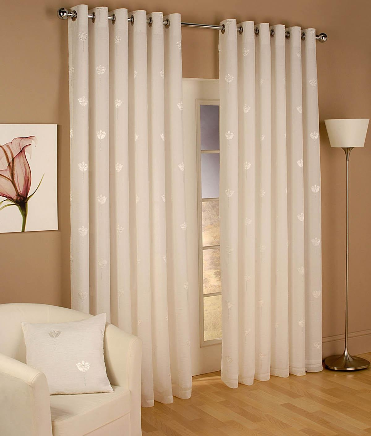 Miami Eyelet Voile Curtains Cortina1 Pinterest Voile Regarding Natural Curtain Panels (View 5 of 15)