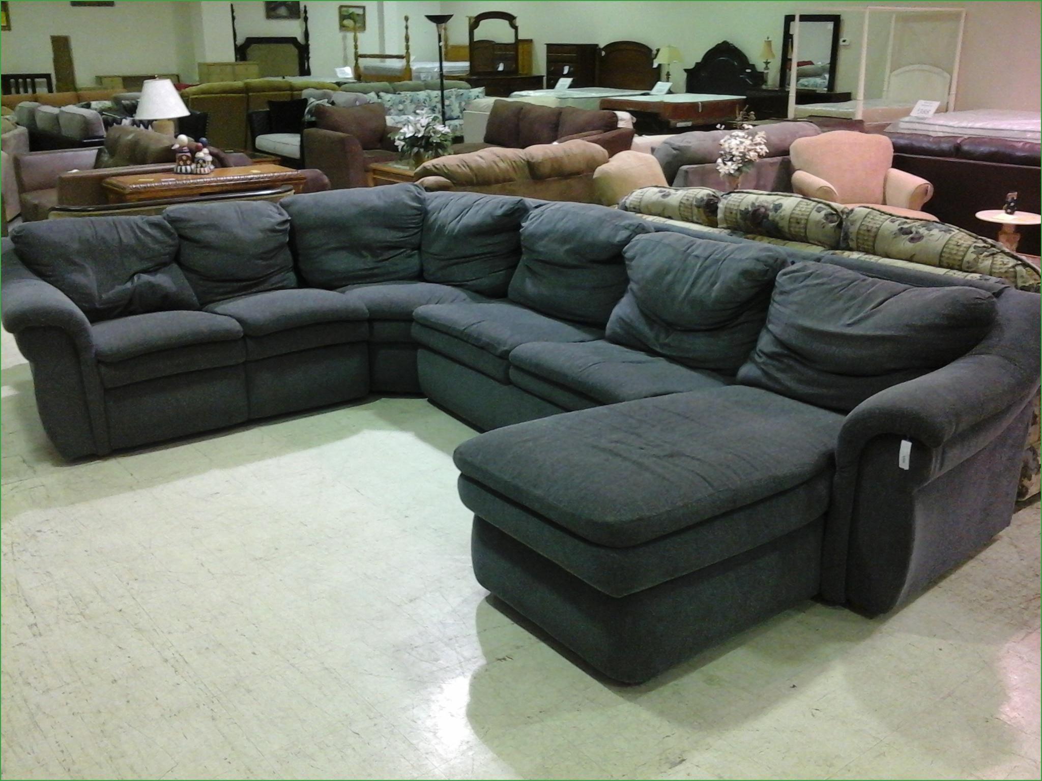 Microfiber And Leather Sectional Sleeper Sofa With Chaise And Regarding 3 Piece Sectional Sleeper Sofa (Image 12 of 15)