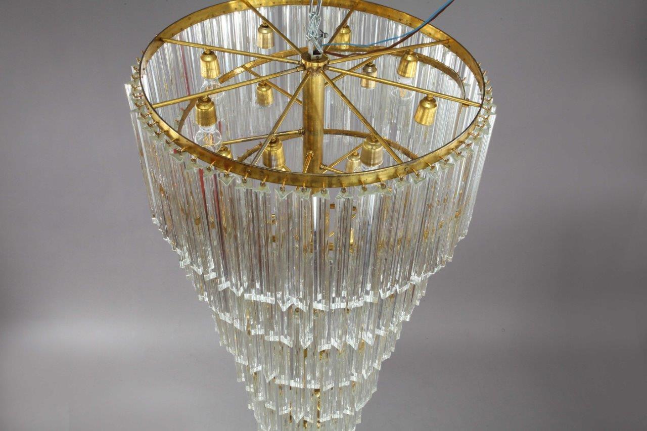 Mid Century Modern Italian Spiral Chandelier From Venini 1950s For Modern Italian Chandeliers (Image 8 of 15)
