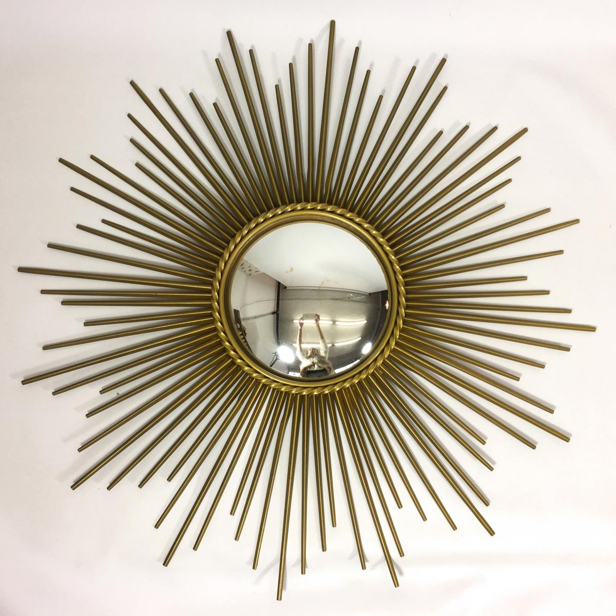Mid Century Sun Shaped Mirror From Chaty Vallauris For Sale At Pamono Within Sun Mirrors For Sale (Image 7 of 15)
