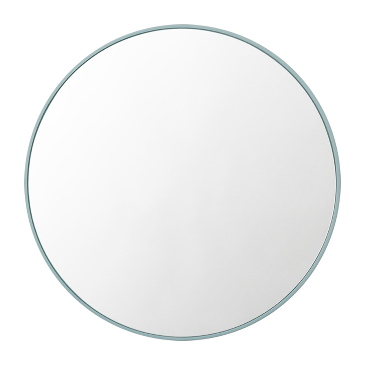 Middle Of Nowhere Flynn Round Mirror Dusty Blue Modern In Blue Round Mirror (Image 6 of 15)