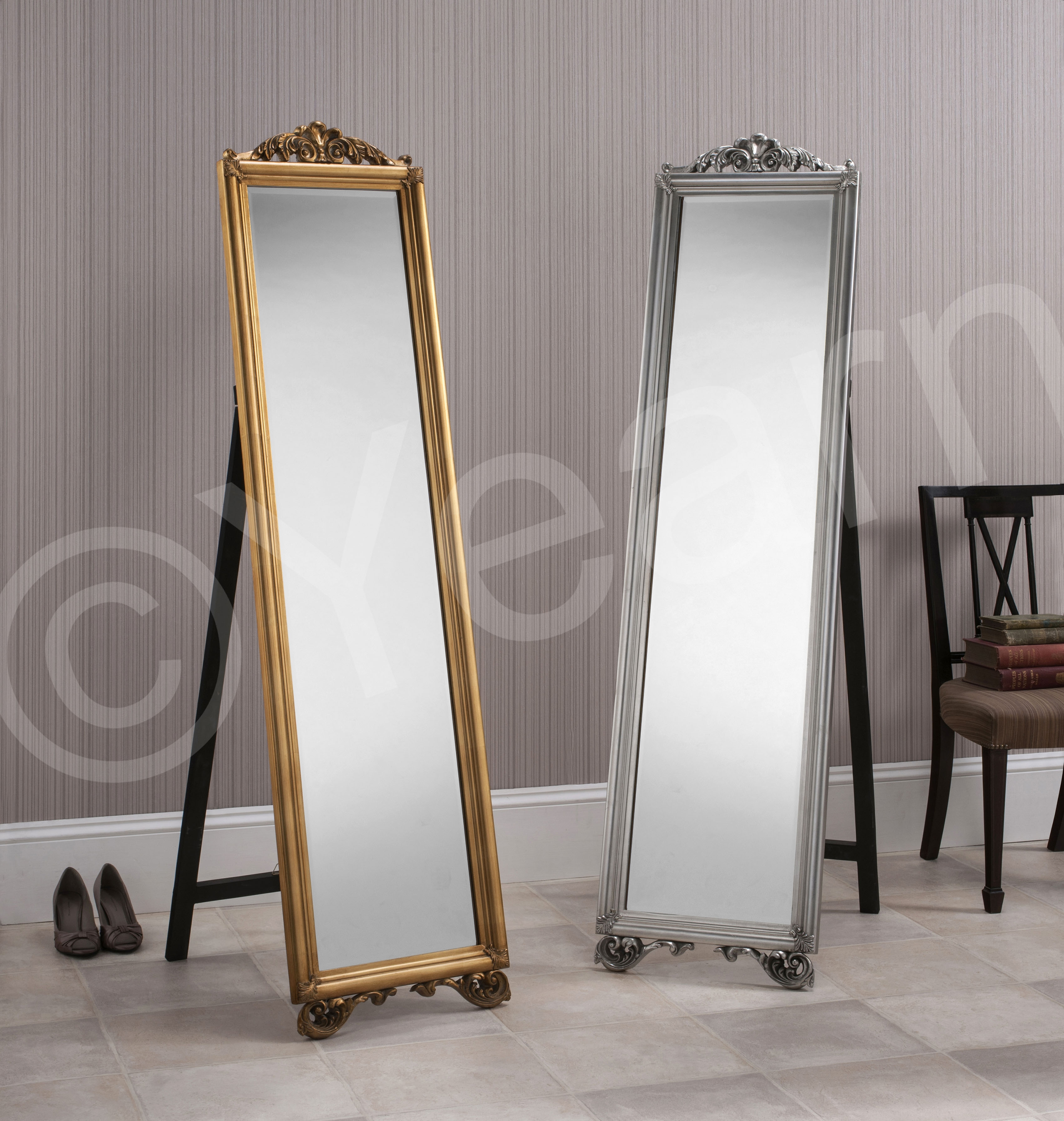 Milano Cheval Mirror Mirror Elegance With Regard To Silver Cheval Mirror (Image 11 of 15)