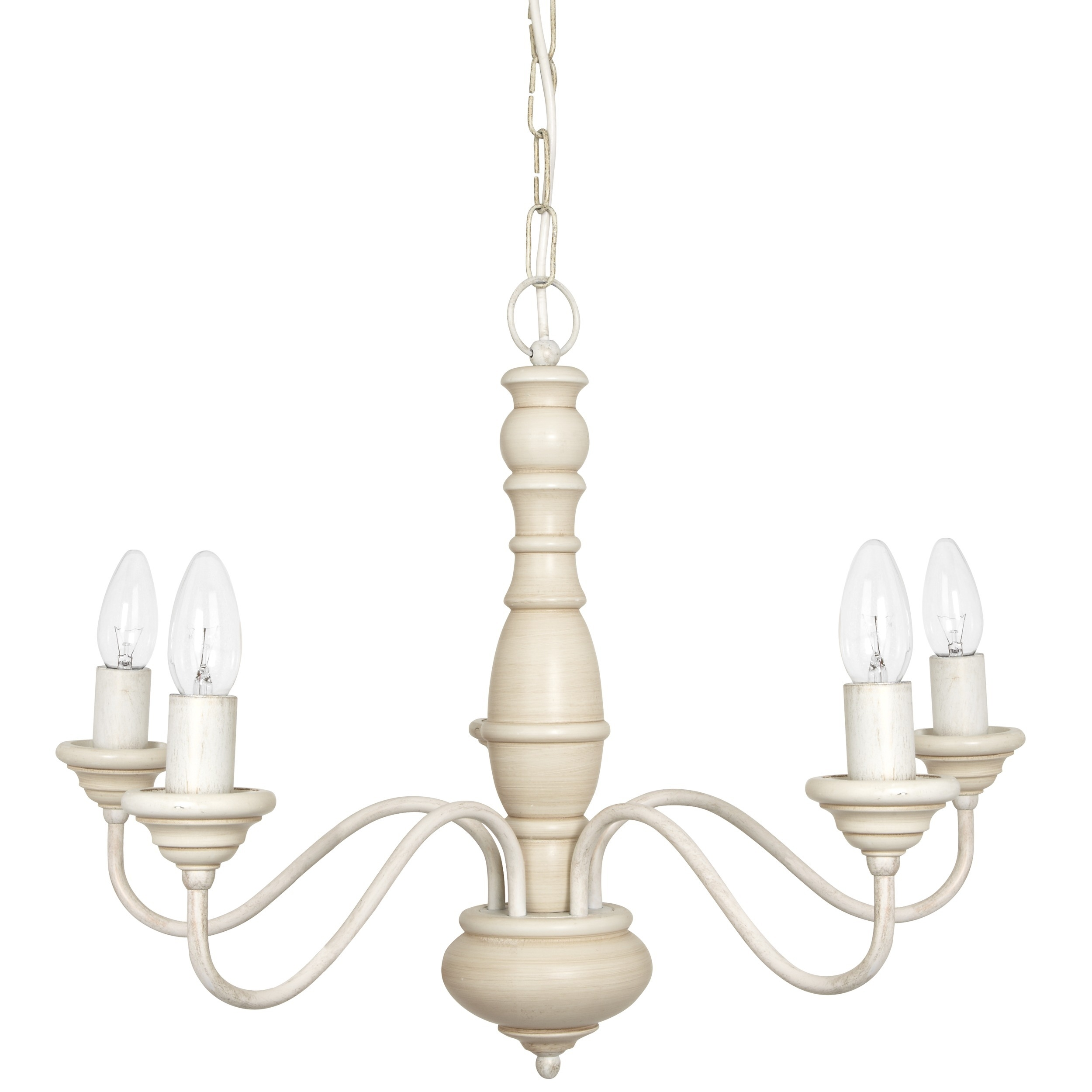 Milnsbridge Cream 5 Light Chandelier At Laura Ashley With Regard To Large Cream Chandelier (View 9 of 15)