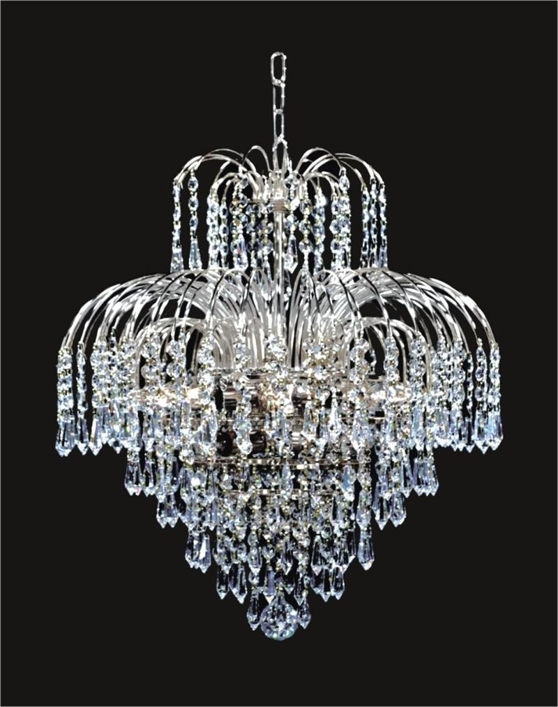 Mini Chandeliers 11 Light Waterfall Mini Crystal Chandeliers D18 Pertaining To Waterfall Crystal Chandelier (Image 10 of 15)