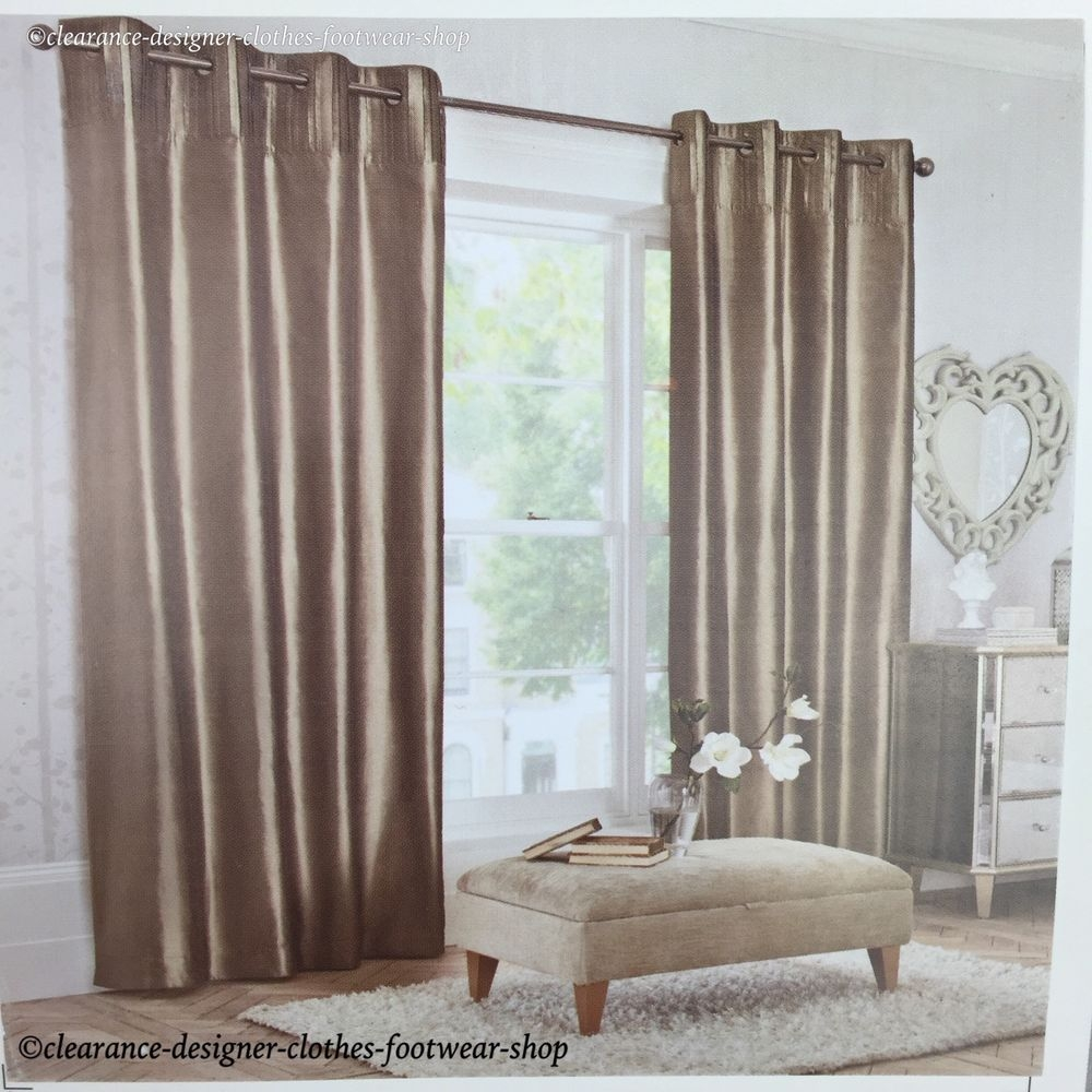 Mink Silk Curtains Ebay Intended For Double Lined Curtains (Image 14 of 15)