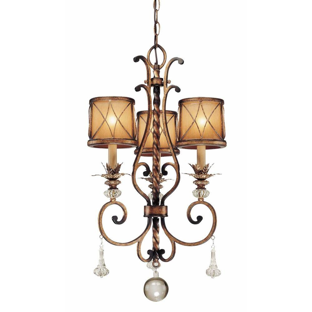Minka Lavery 3 Light Vintage Bronze Mini Chandelier 3138 284 The Throughout Small Bronze Chandelier (Image 9 of 15)