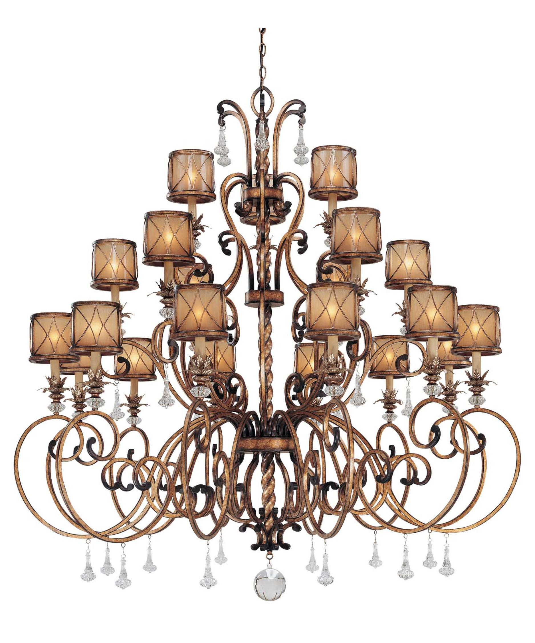 Minka Lavery 4759 Aston Court 59 Inch Wide 21 Light Chandelier Intended For Large Bronze Chandelier (View 2 of 15)
