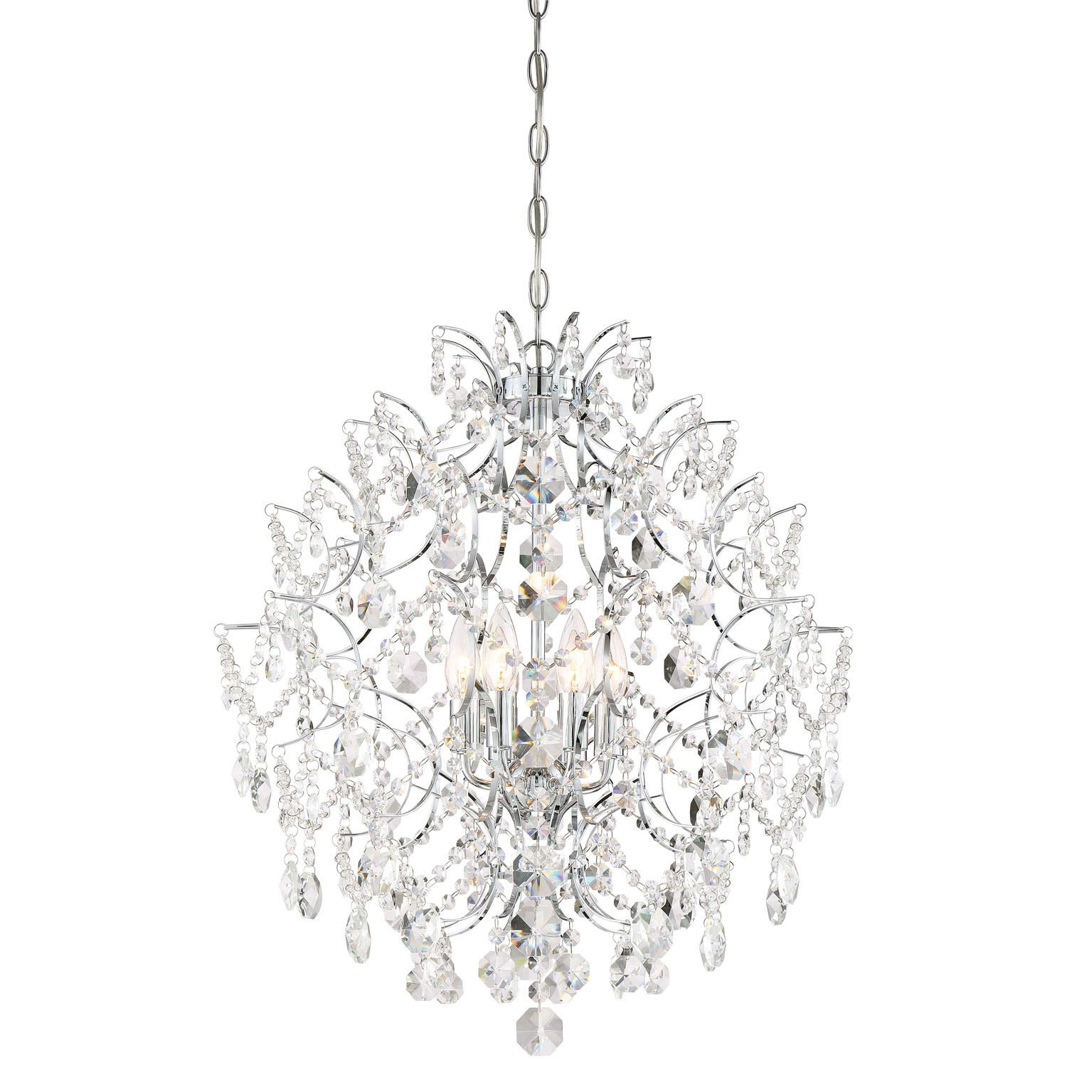 Minka Lavery Isabellas Crown Chandelier In Chrome Transitional For Chrome Chandeliers (Image 11 of 15)
