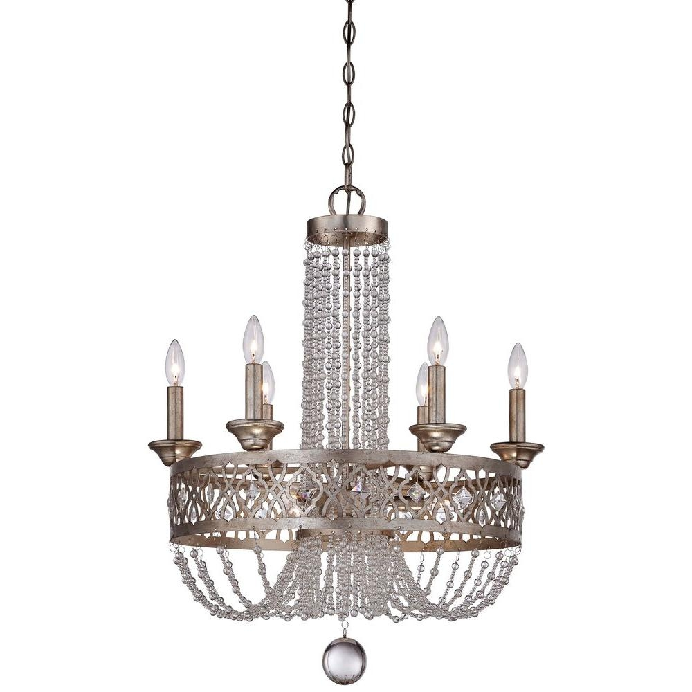 Minka Lavery Lucero 9 Light Florentine Silver Chandelier 4848 276 With Silver Chandeliers (View 13 of 15)